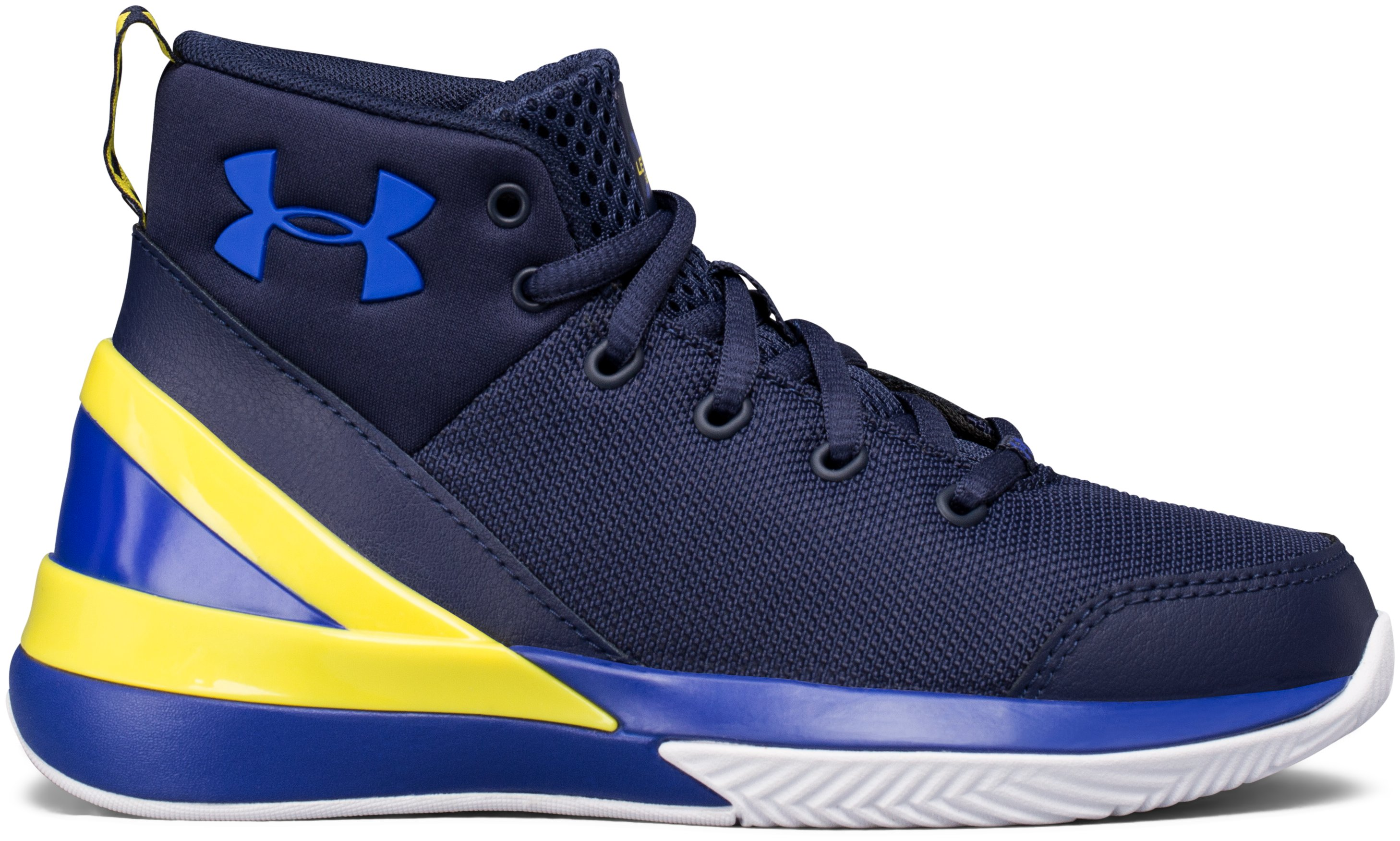 Boys' Pre-School UA X Level Ninja Basketball Shoes, Midnight Navy,