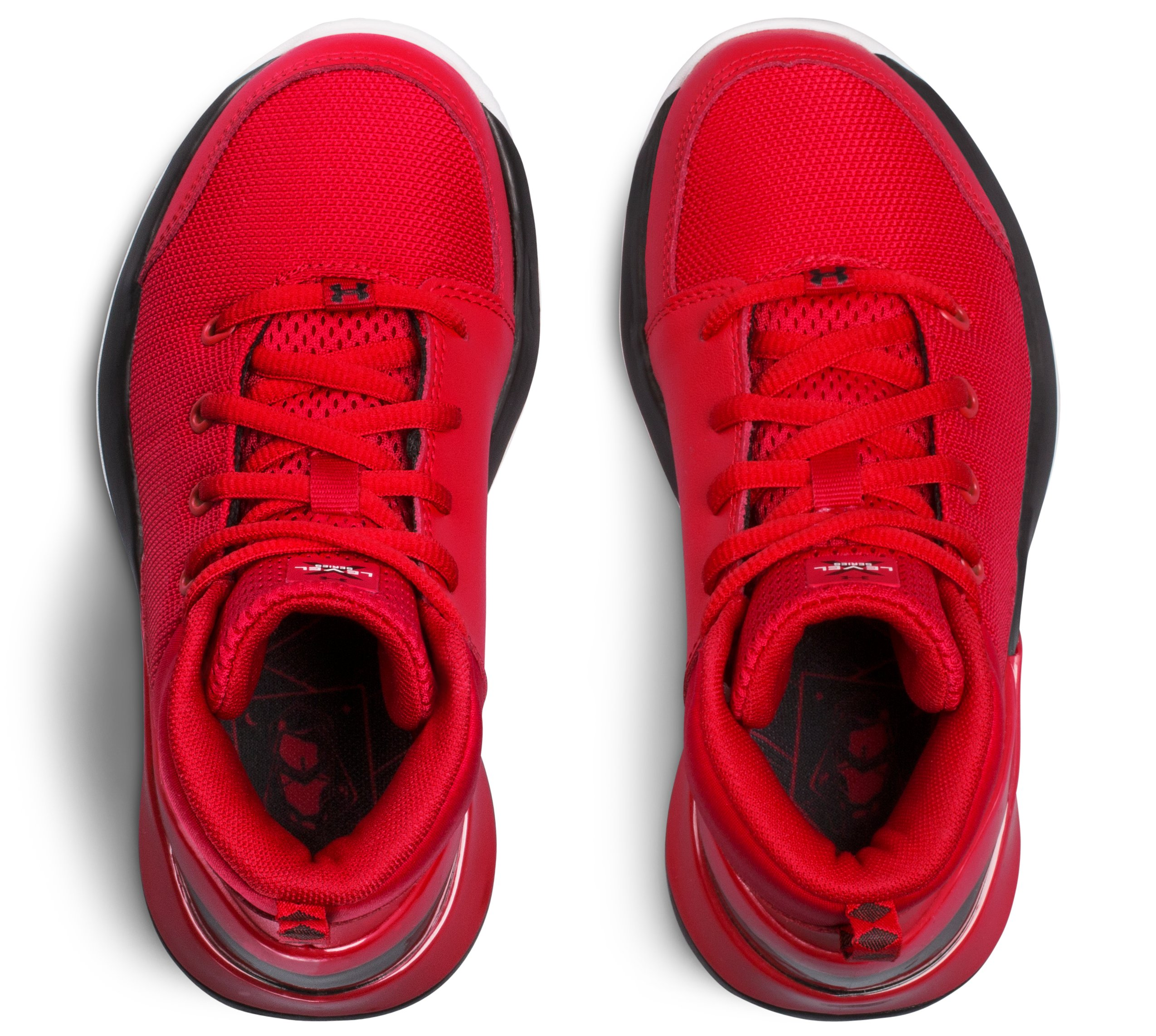 Boys' Pre-School UA X Level Ninja Basketball Shoes, Red, undefined