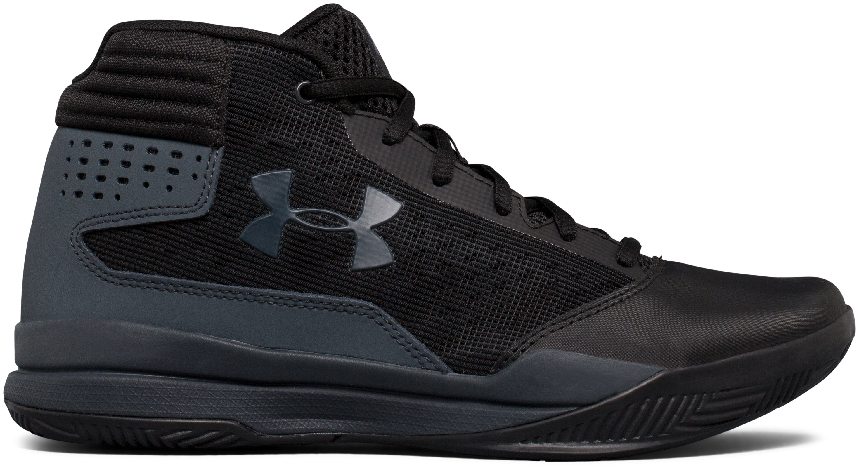 Boys' Grade School UA Jet 2017 Basketball Shoes, Black
