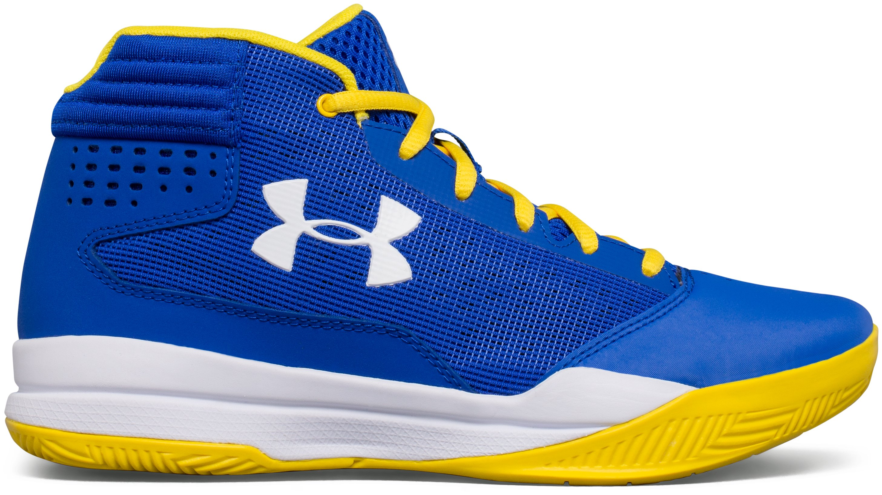 Boys' Grade School UA Jet 2017 Basketball Shoes, TEAM ROYAL