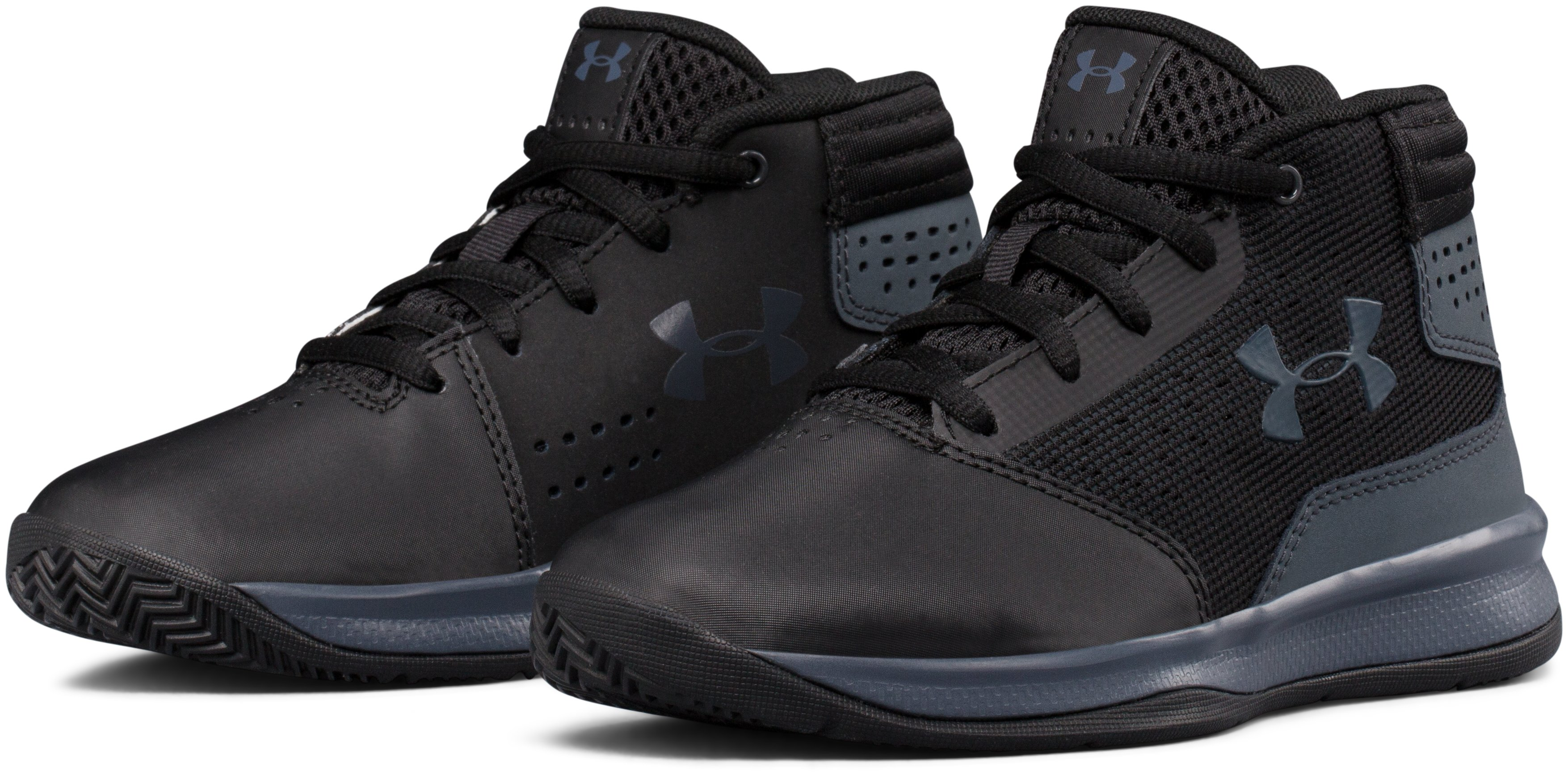 Boys' Pre-School UA Jet 2017 Basketball Shoes, Black , undefined