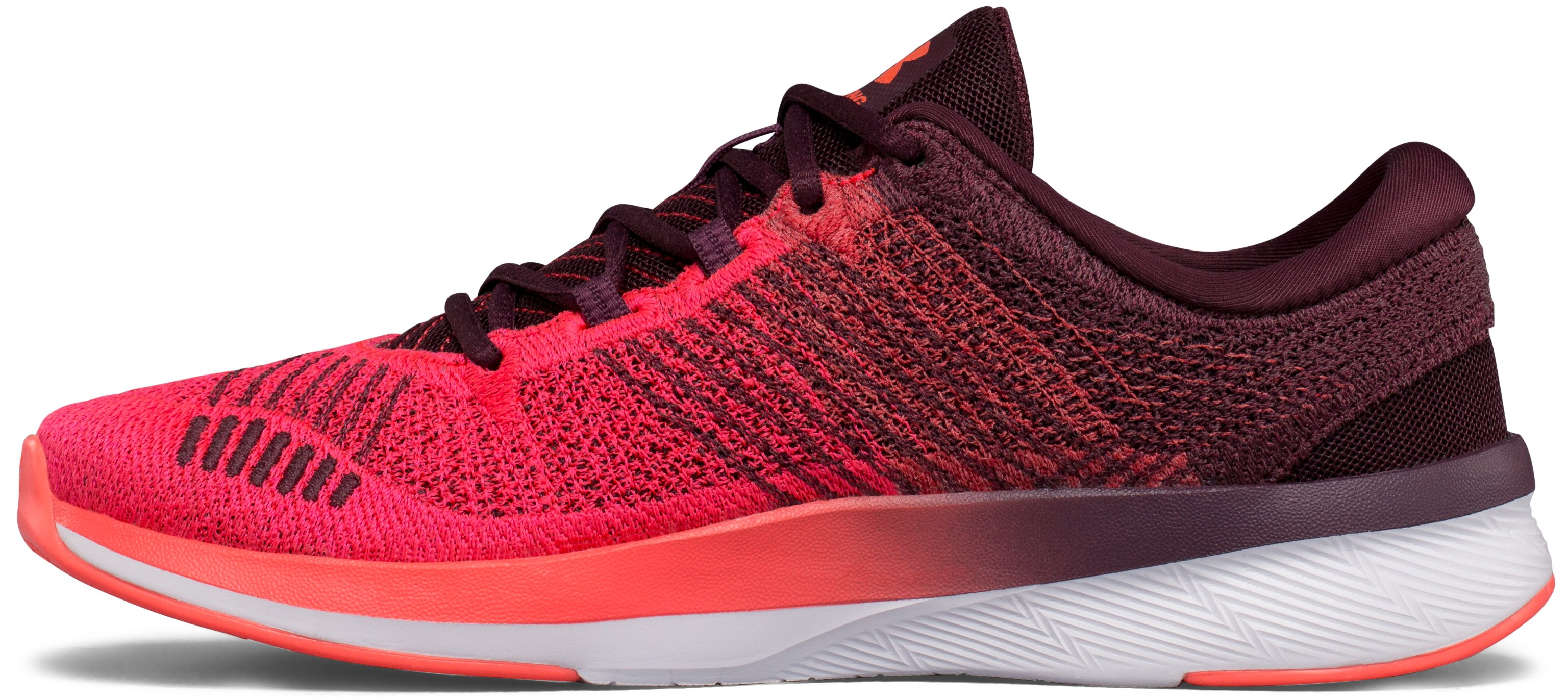 Women's UA Threadborne Push Training Shoes, RAISIN RED,