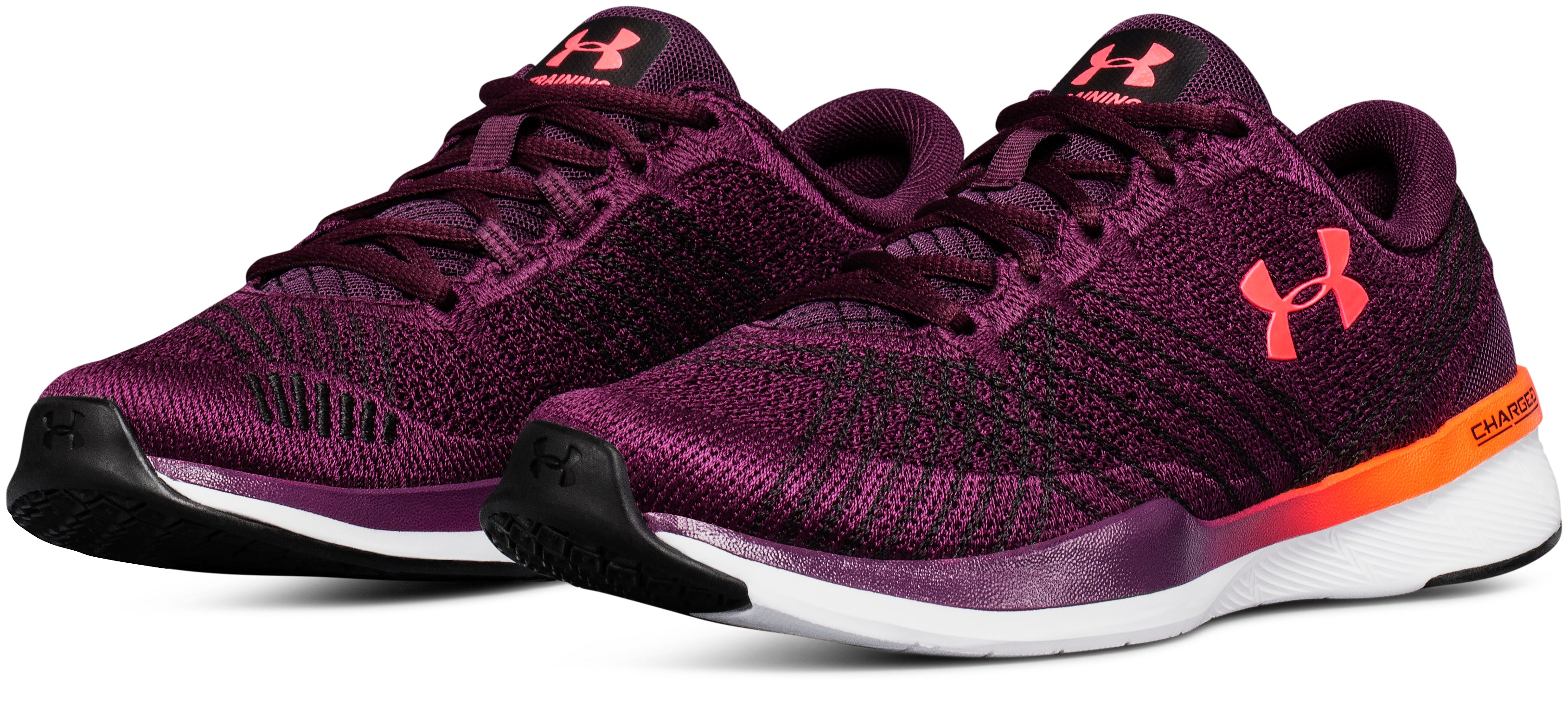 Women's UA Threadborne Push Training Shoes, MERLOT, undefined