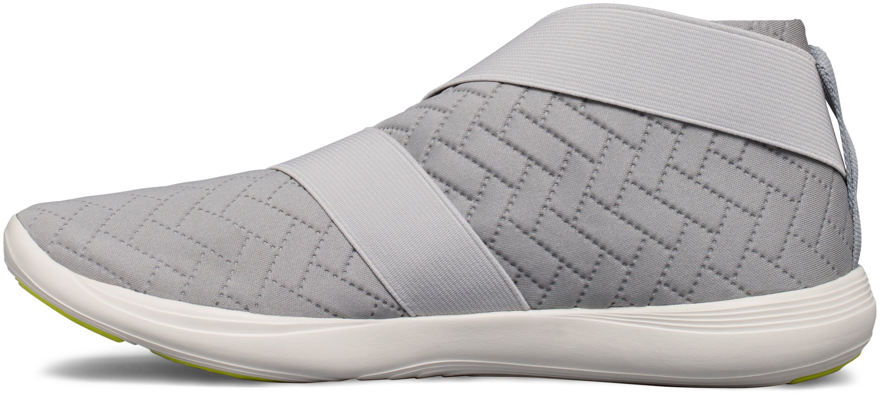 Women's UA Street Precision Slip Metallic Training Shoes, OVERCAST GRAY, undefined