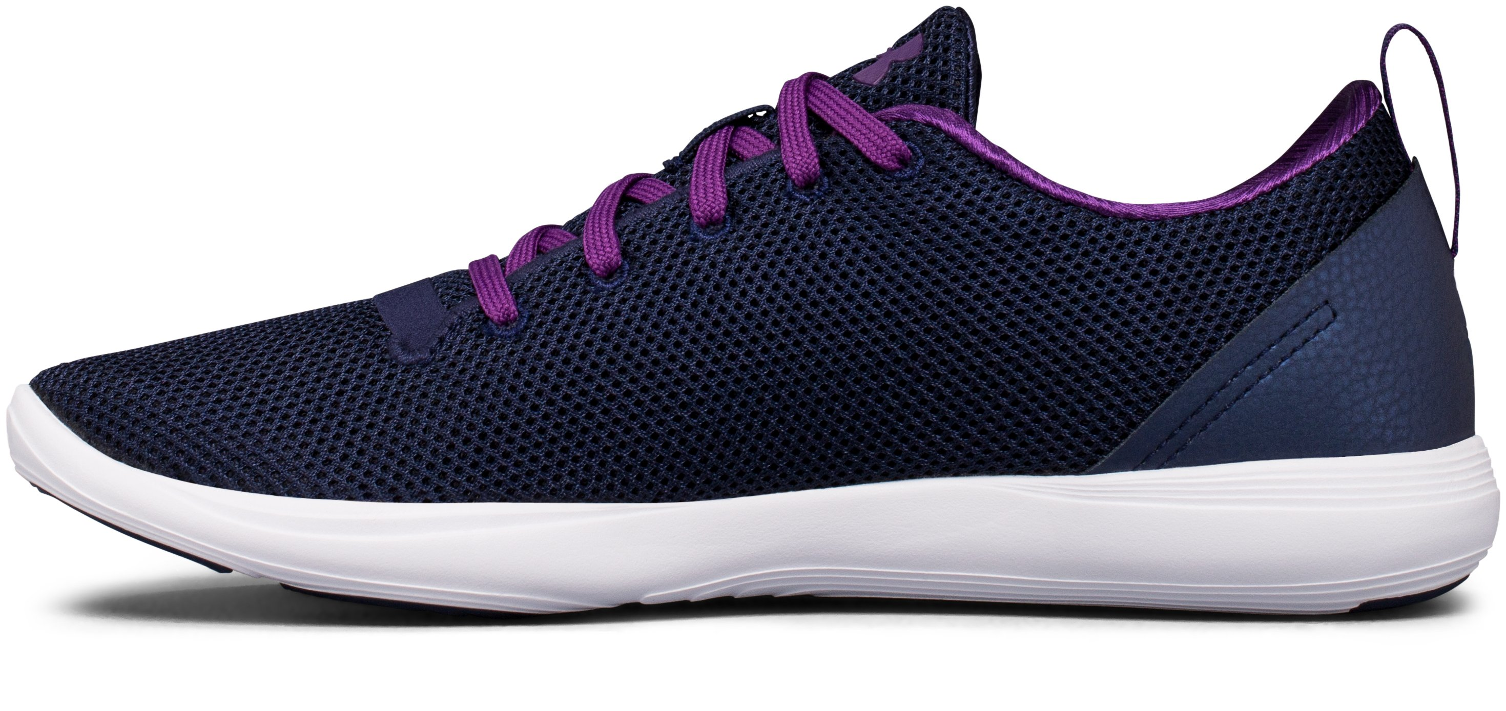 Women's UA Street Precision Sport Low Neutral Lifestyle Shoes, Midnight Navy,