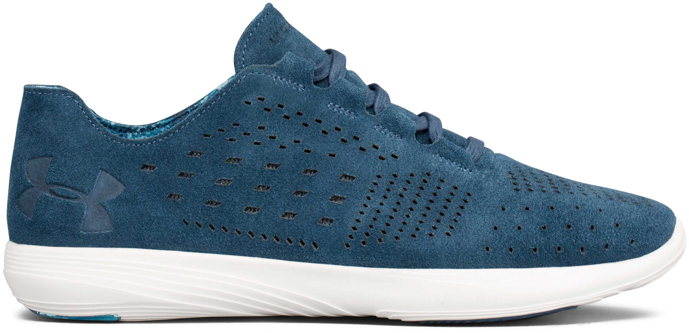 Women's UA Street Precision Low Lux Lifestyle Shoes, BAYOU BLUE,