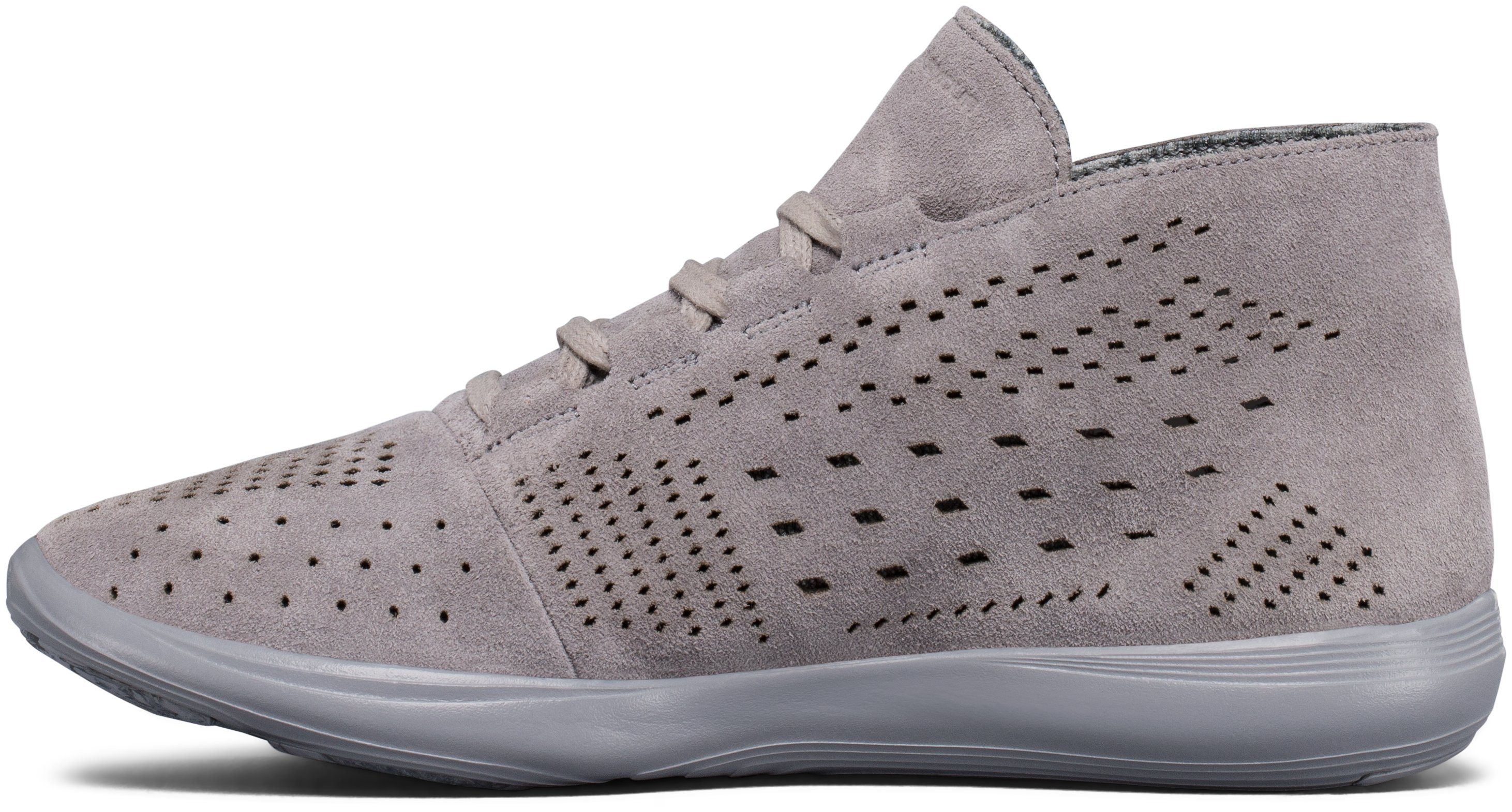 Women's UA Street Precision Mid Lux Lifestyle Shoes, Steel, undefined