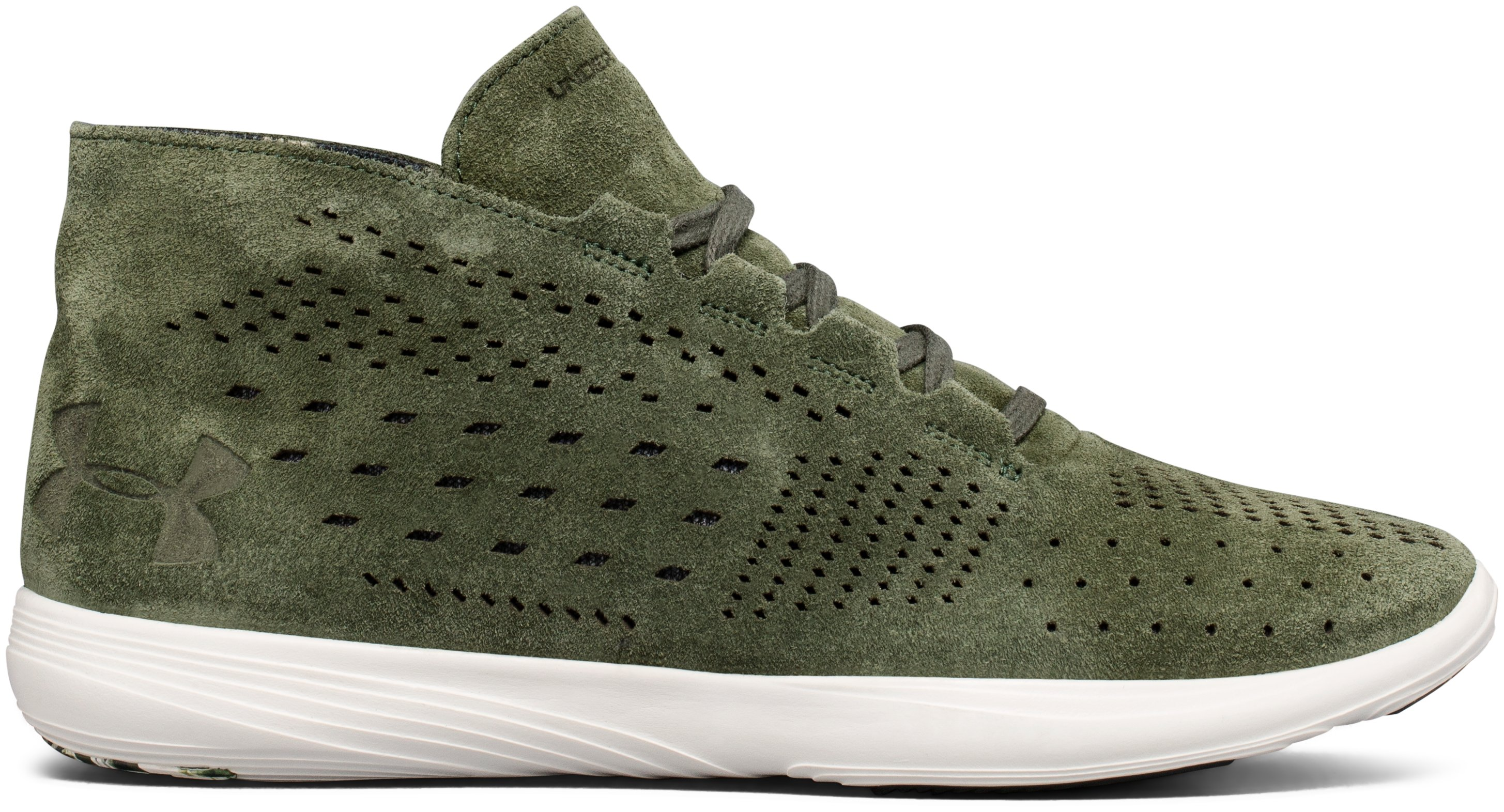 Women's UA Street Precision Mid Lux Lifestyle Shoes, DOWNTOWN GREEN