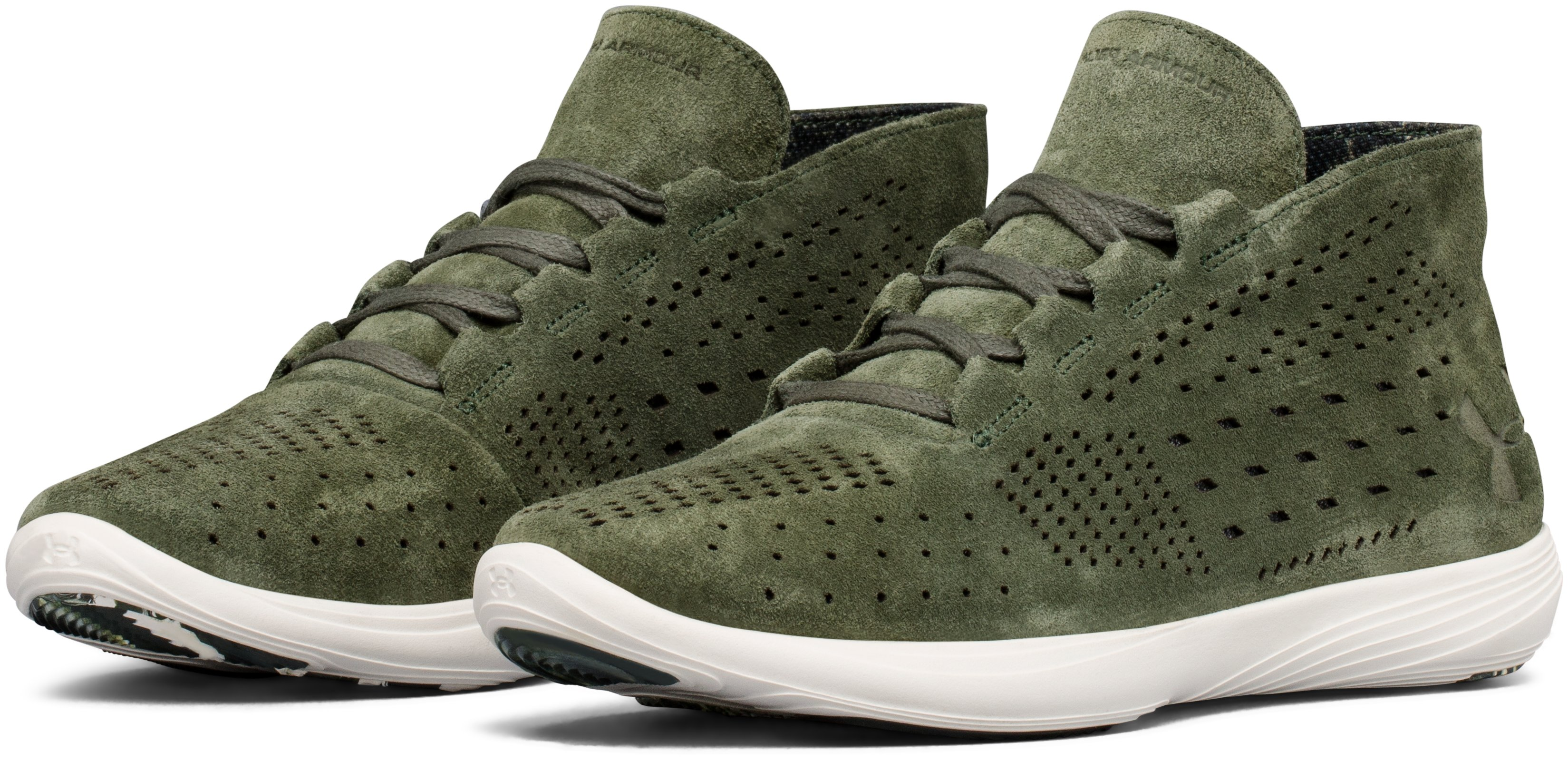 Women's UA Street Precision Mid Lux Lifestyle Shoes, DOWNTOWN GREEN,