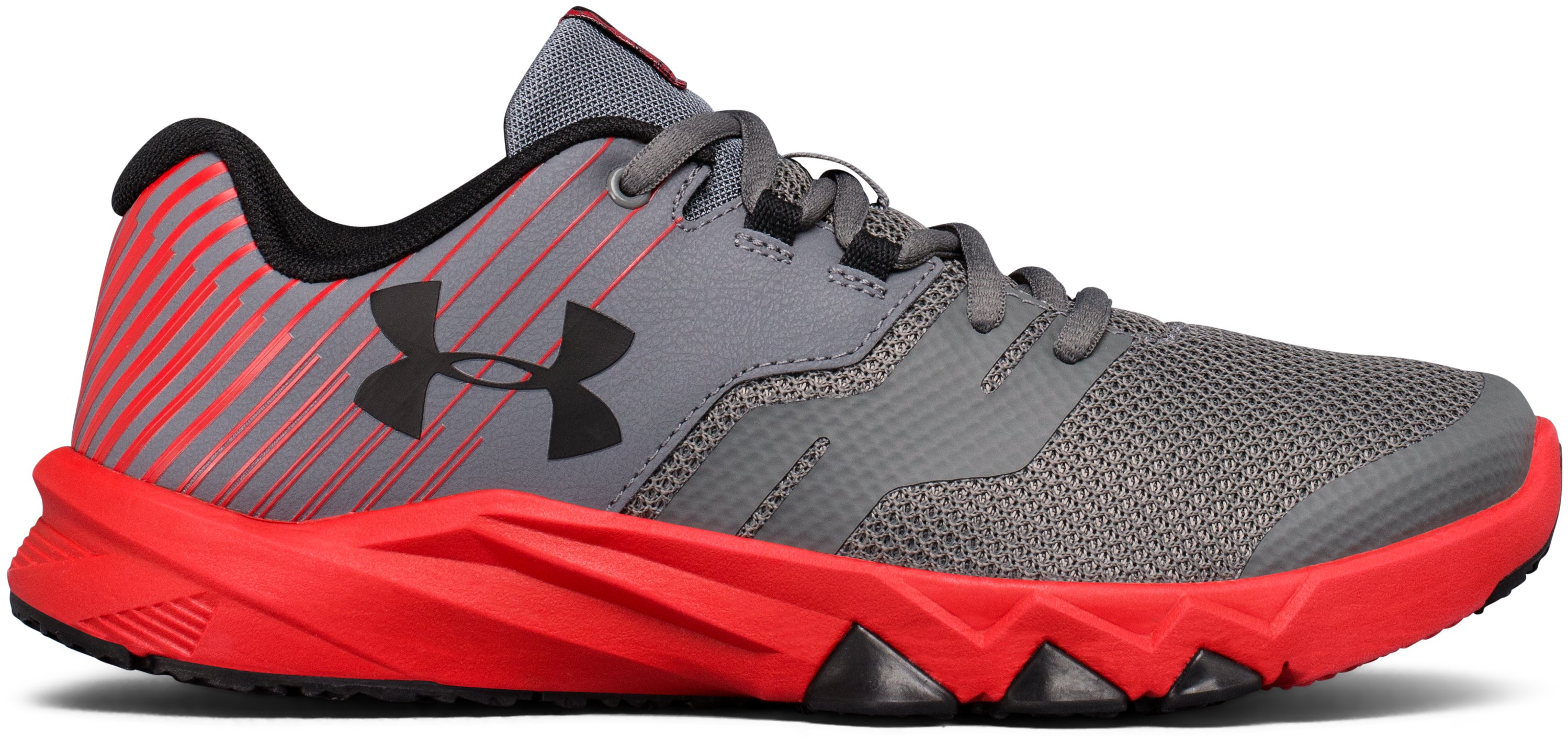 Boys' Grade School UA Primed 2 Running Shoes, Graphite, undefined