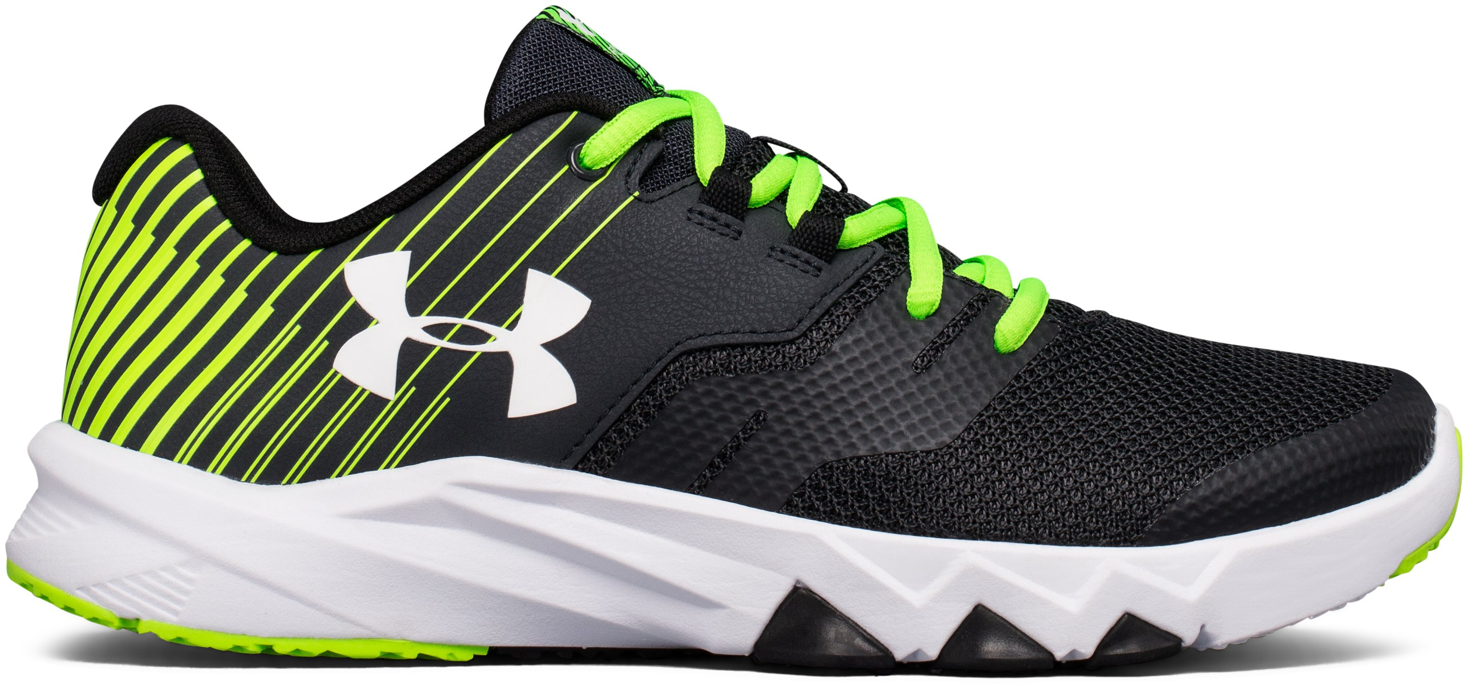 Boys' Grade School UA Primed 2 Running Shoes, ANTHRACITE