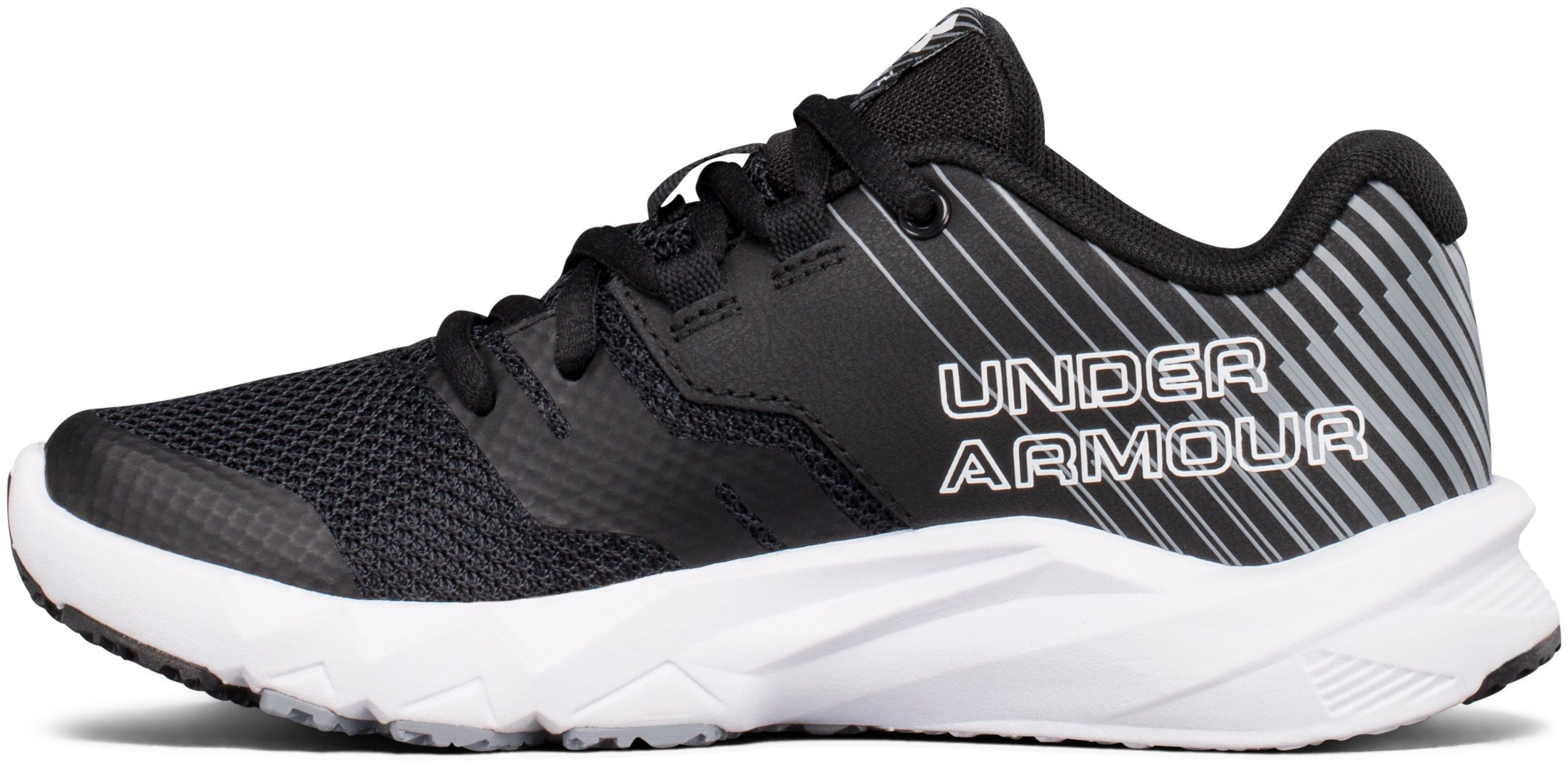 Boys' Pre-School UA Primed 2 Running Shoes, Black ,