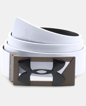 Men's UA Reversible PU Leather Golf Belt  1 Color $39.99
