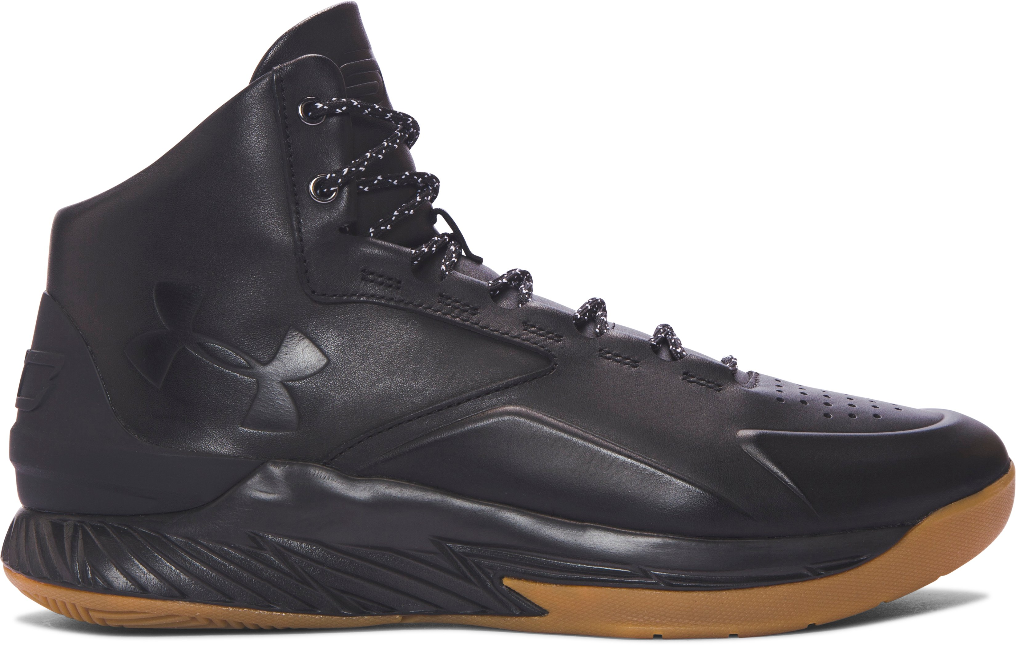 Men's UA Curry Lux Basketball Shoes, Black ,