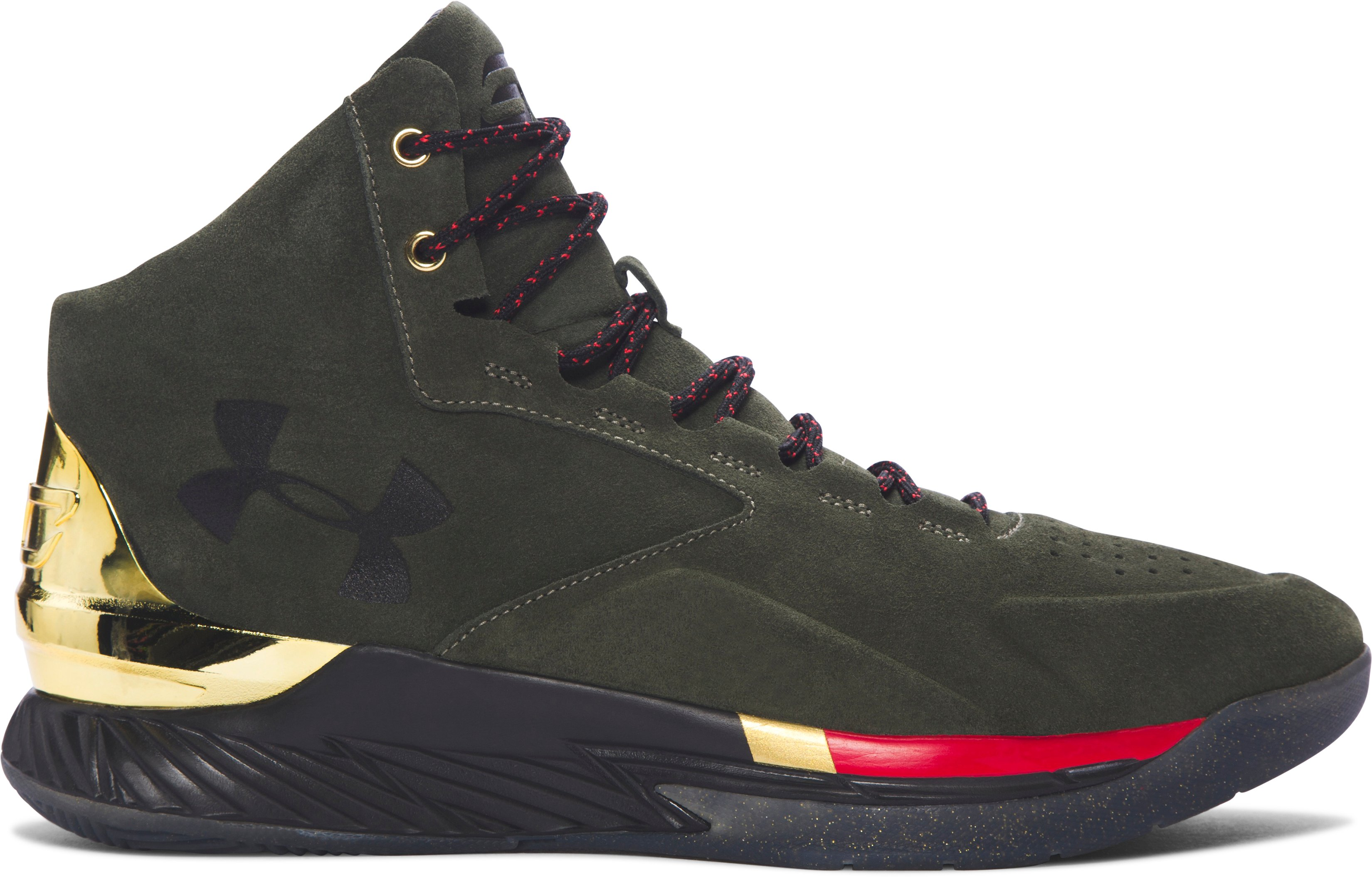 Men's UA Curry Lux Basketball Shoes, DOWNTOWN GREEN