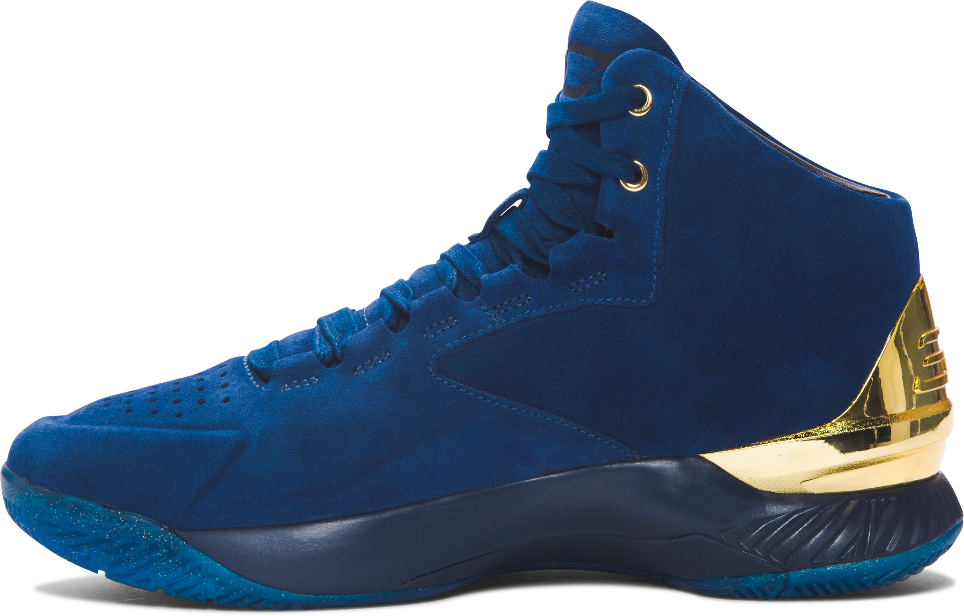 Men's UA Curry Lux Basketball Shoes, BLACKOUT NAVY,
