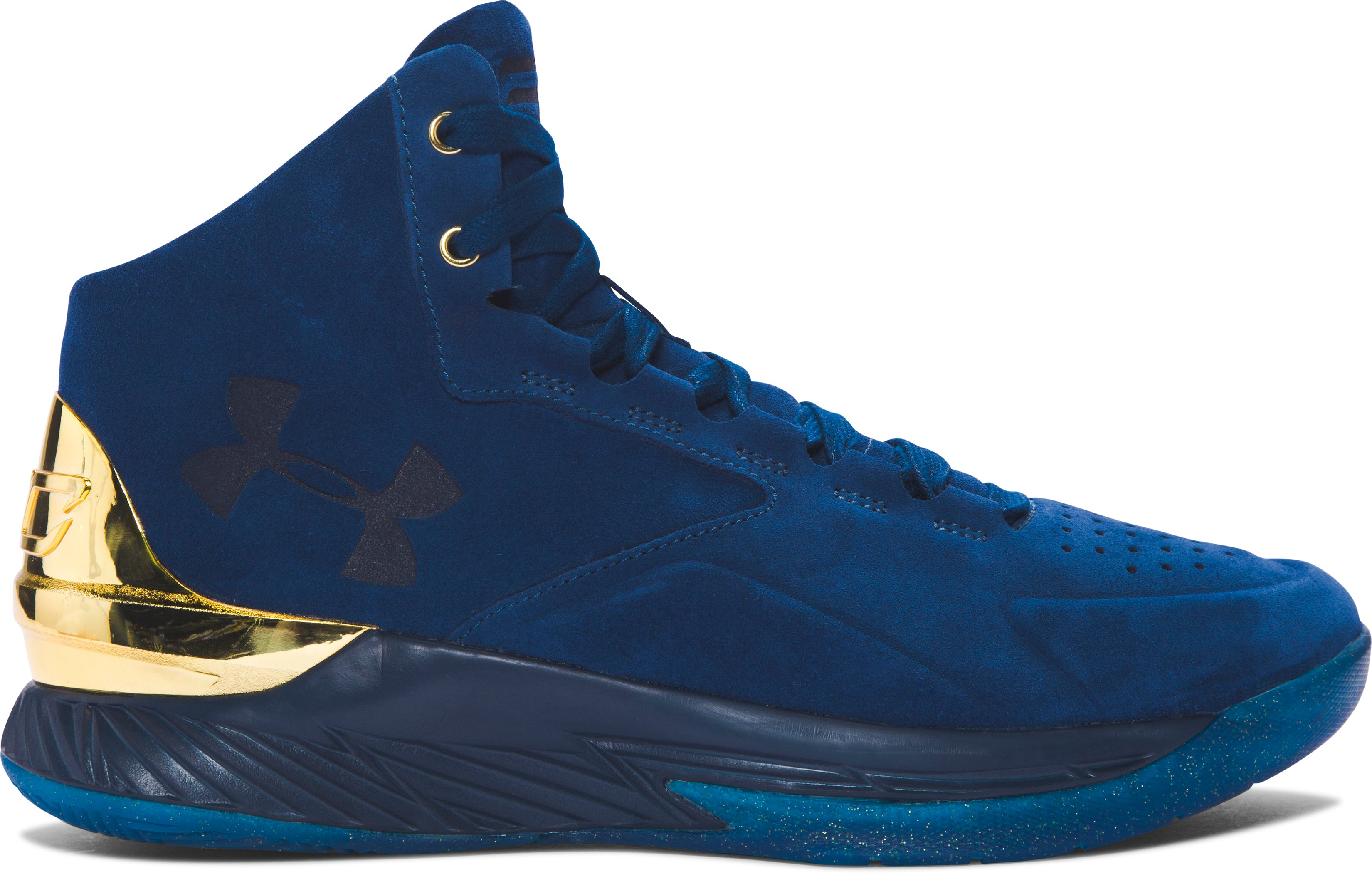 Men's UA Curry Lux Basketball Shoes, BLACKOUT NAVY