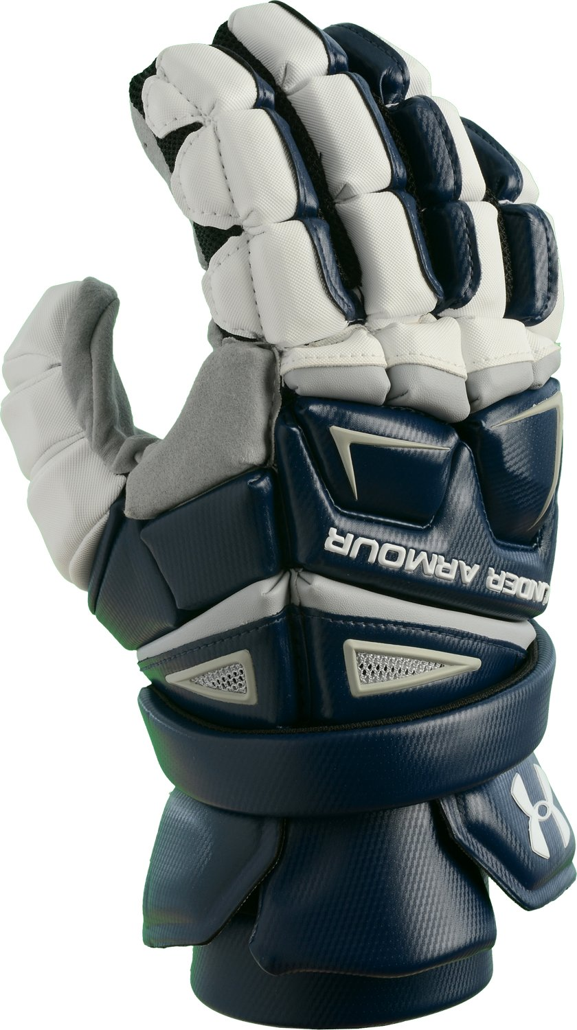 Men's UA Engage Lacrosse Glove, Midnight Navy,