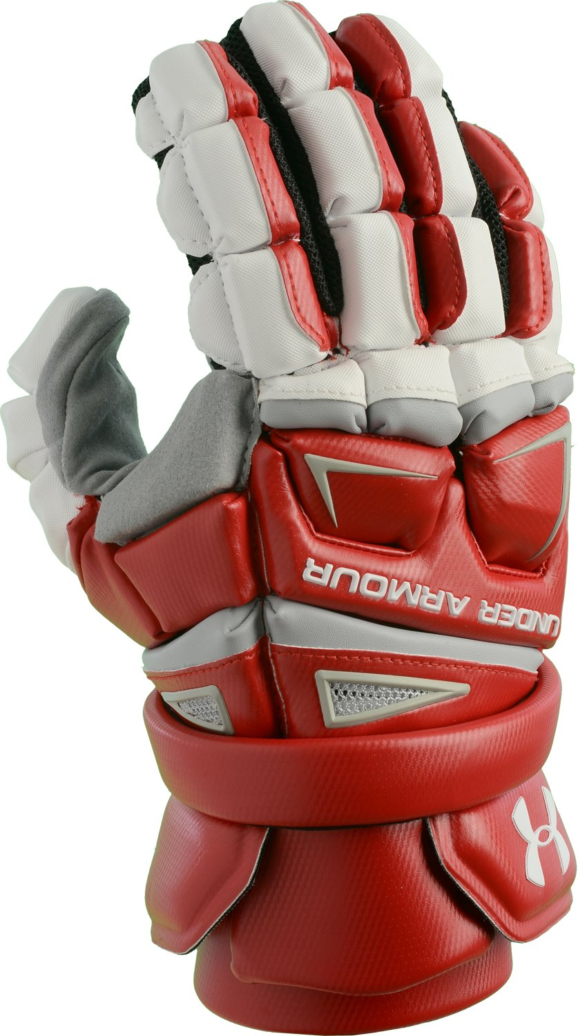 Men's UA Engage Lacrosse Glove, Red, undefined