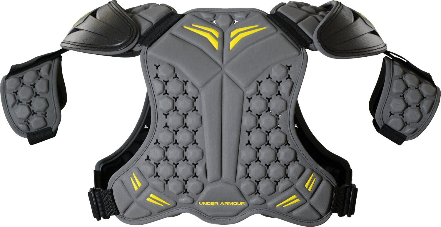 Men's UA VFT Lacrosse Shoulder Pads, Graphite