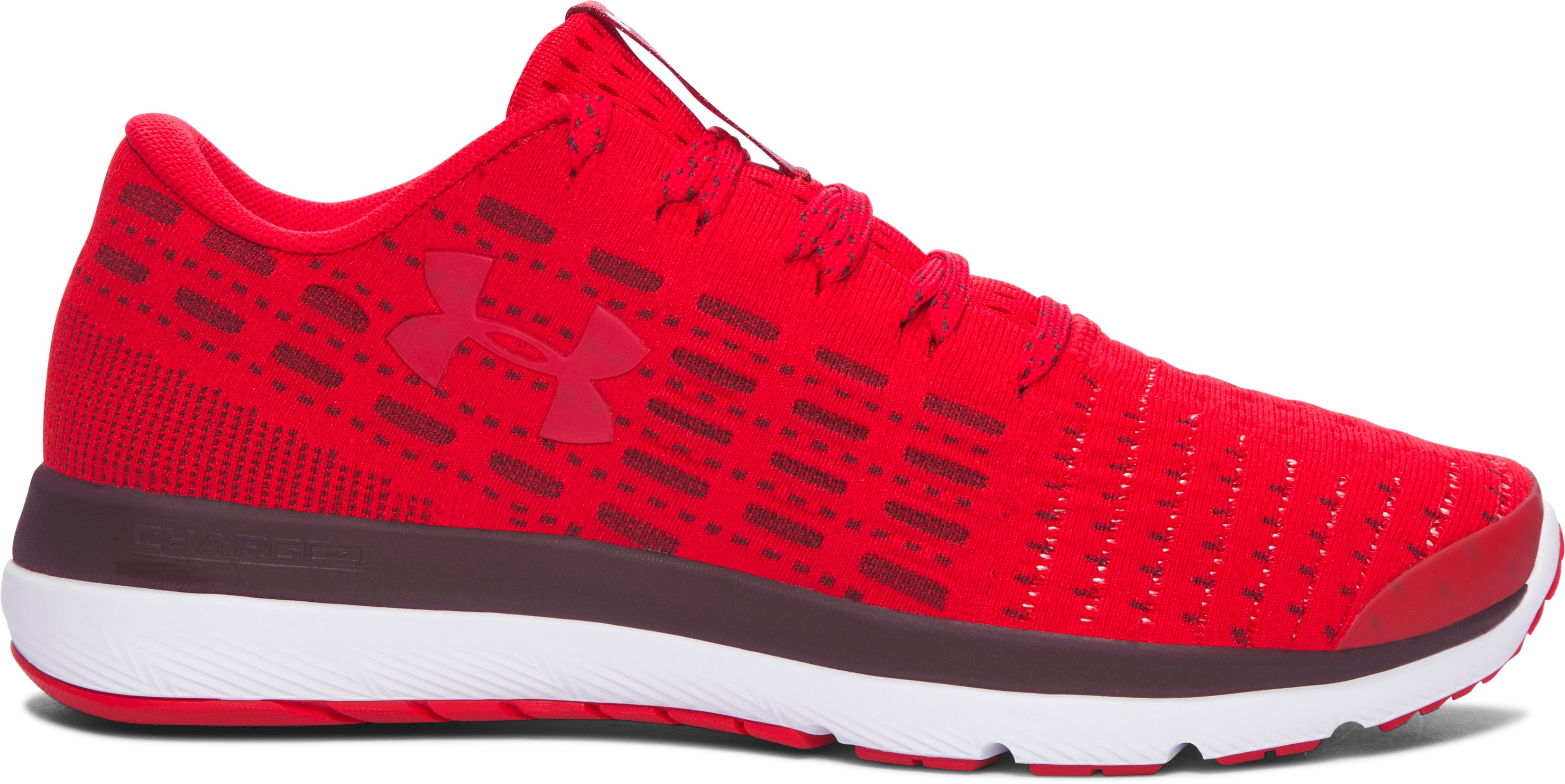 Boys' Grade School UA Threadborne Slingflex Shoes, Red, zoomed image