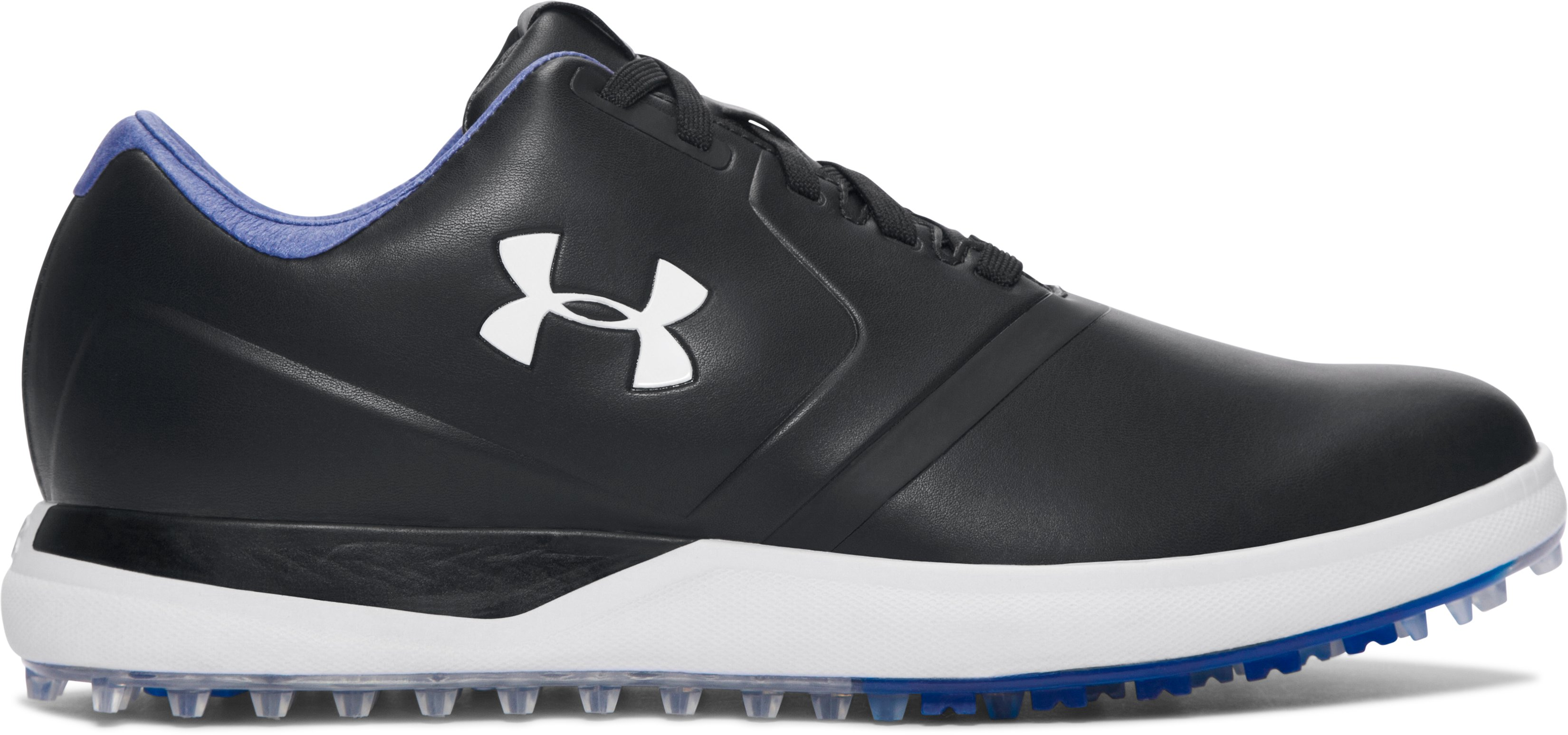 Men's UA Performance Spikeless Golf Shoes, Black , undefined
