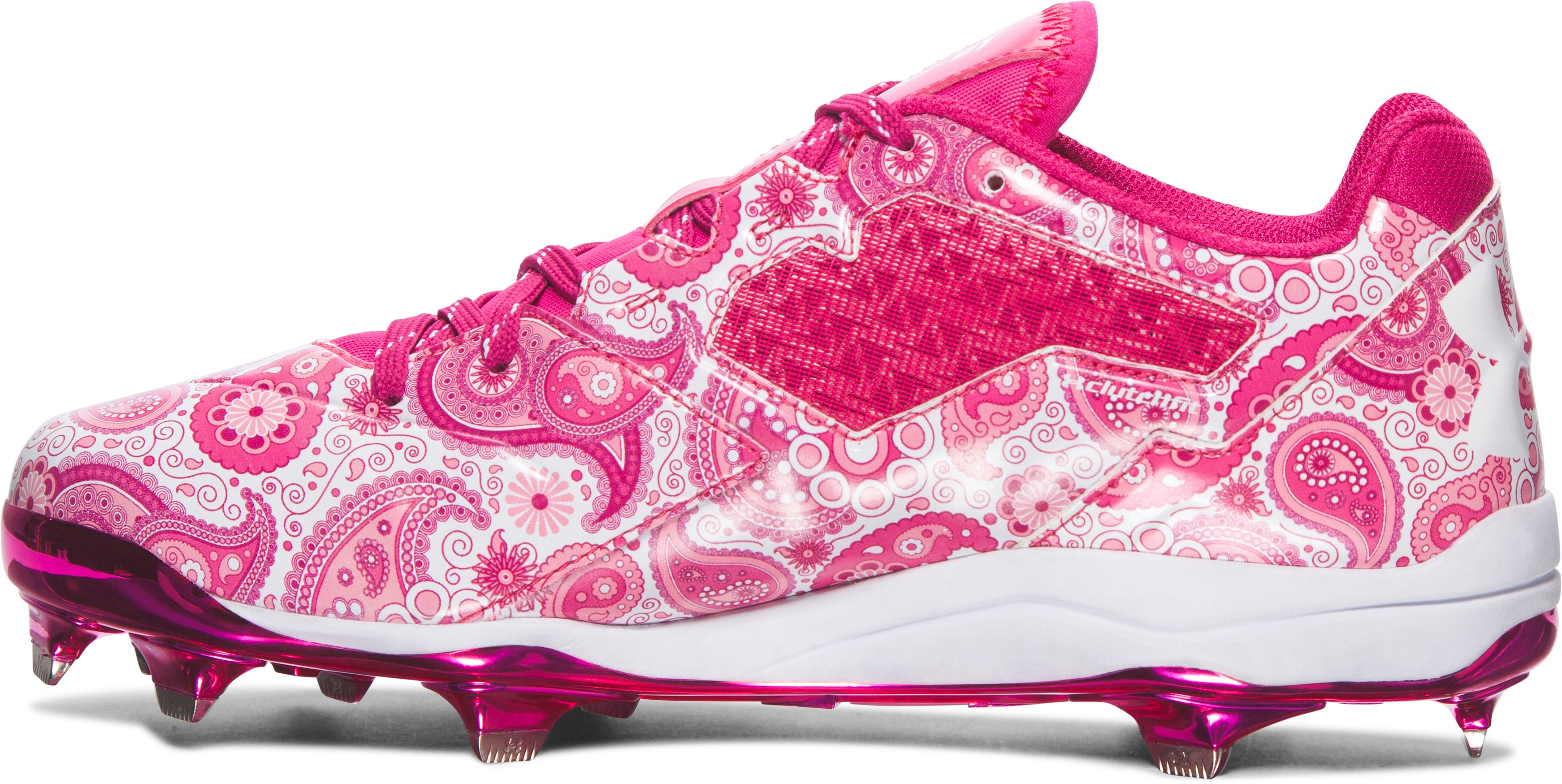 Men's UA Mother's Day Edition DiamondTips Baseball Cleats, Tropic Pink,
