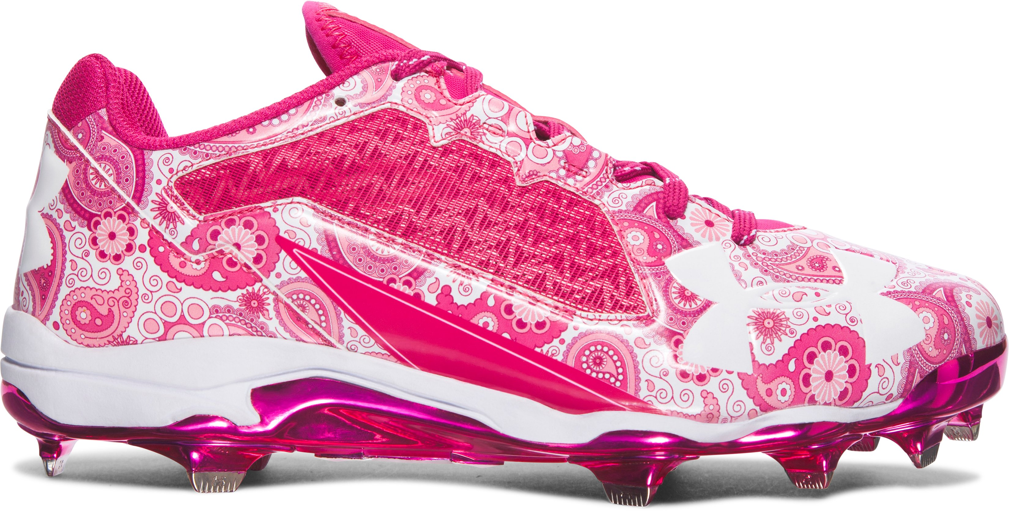 Men's UA Mother's Day Edition DiamondTips Baseball Cleats, Tropic Pink