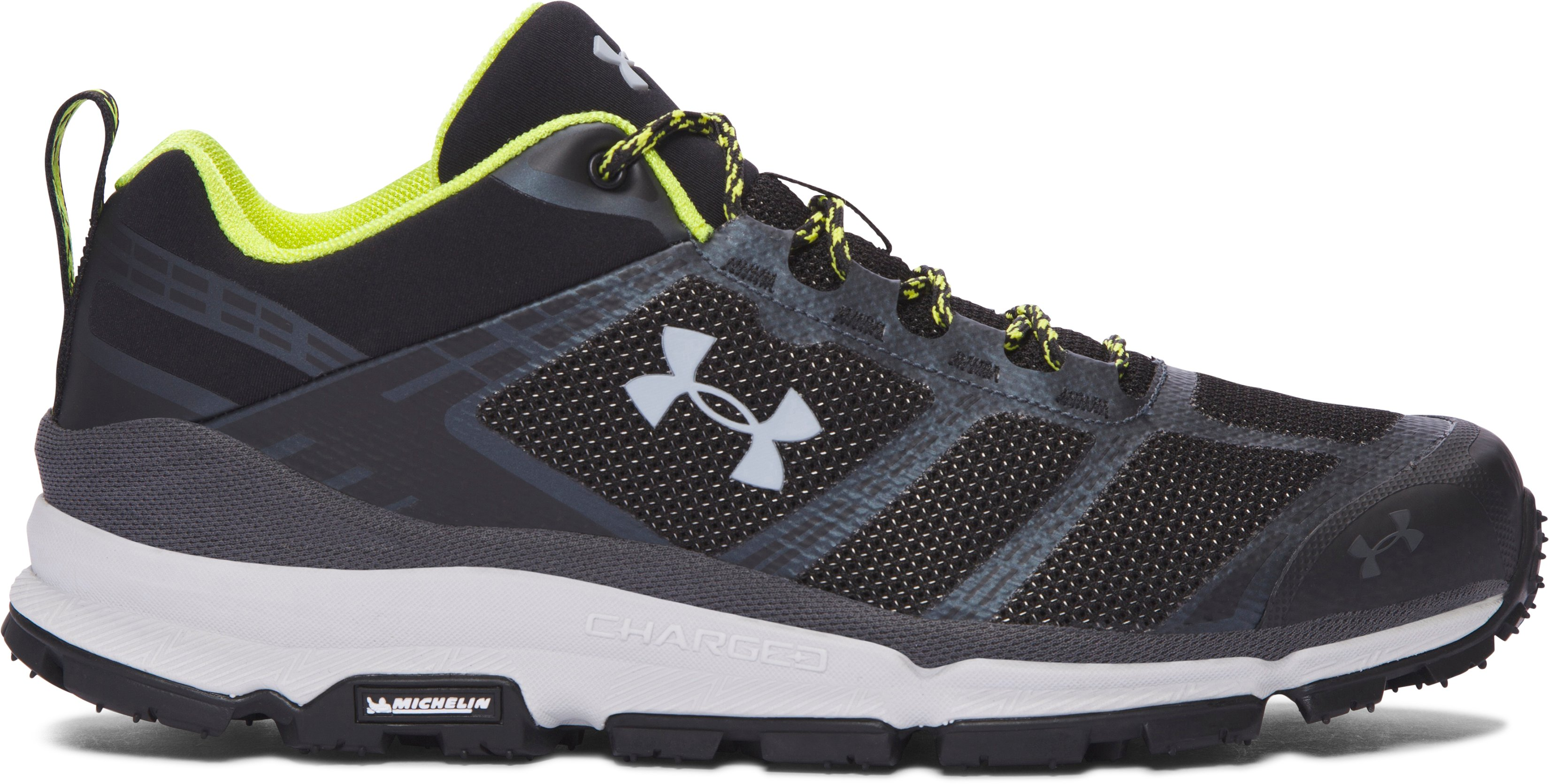 Men's UA Verge Low Hiking Boots, Black , zoomed image