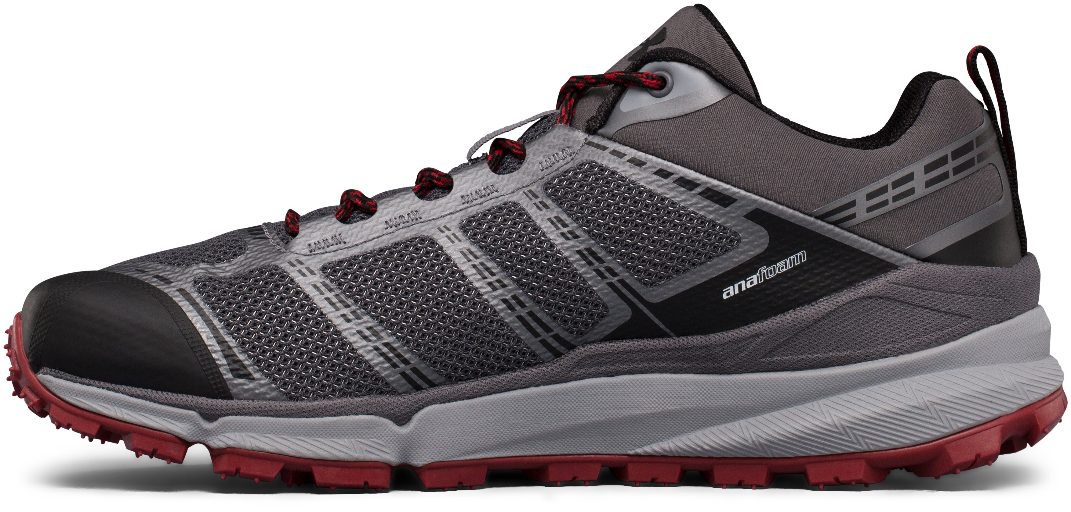 Men's UA Verge Low Hiking Boots, Graphite,