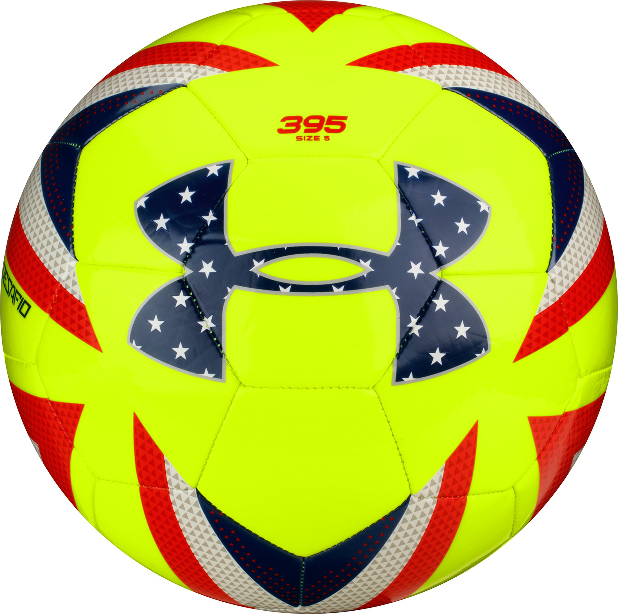 UA Desafio 395 Soccer Ball, High-Vis Yellow