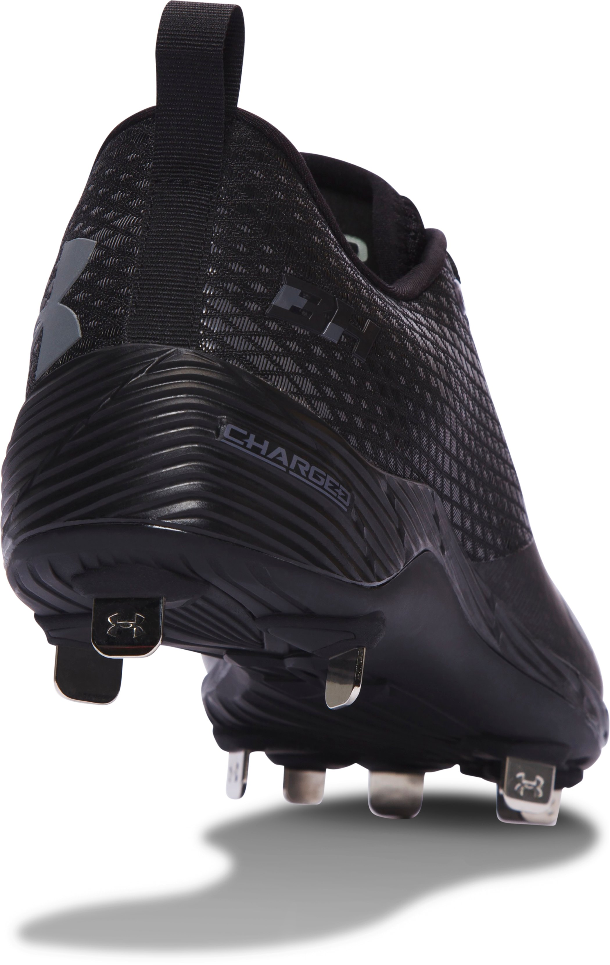 Men's UA Harper One Low Baseball Cleats, Black