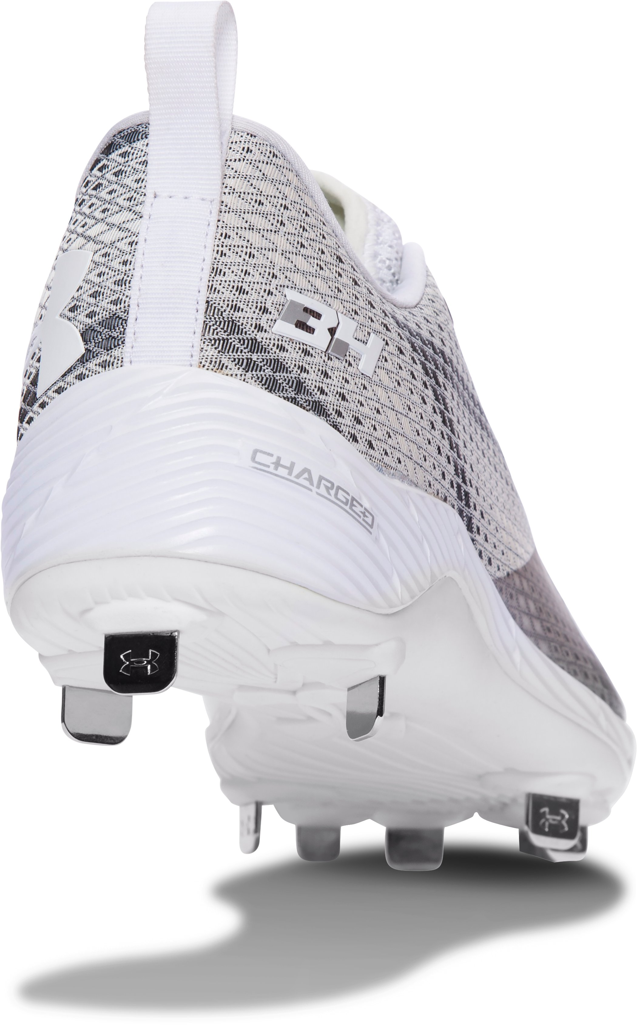 Men's UA Harper One Low Baseball Cleats, White, undefined