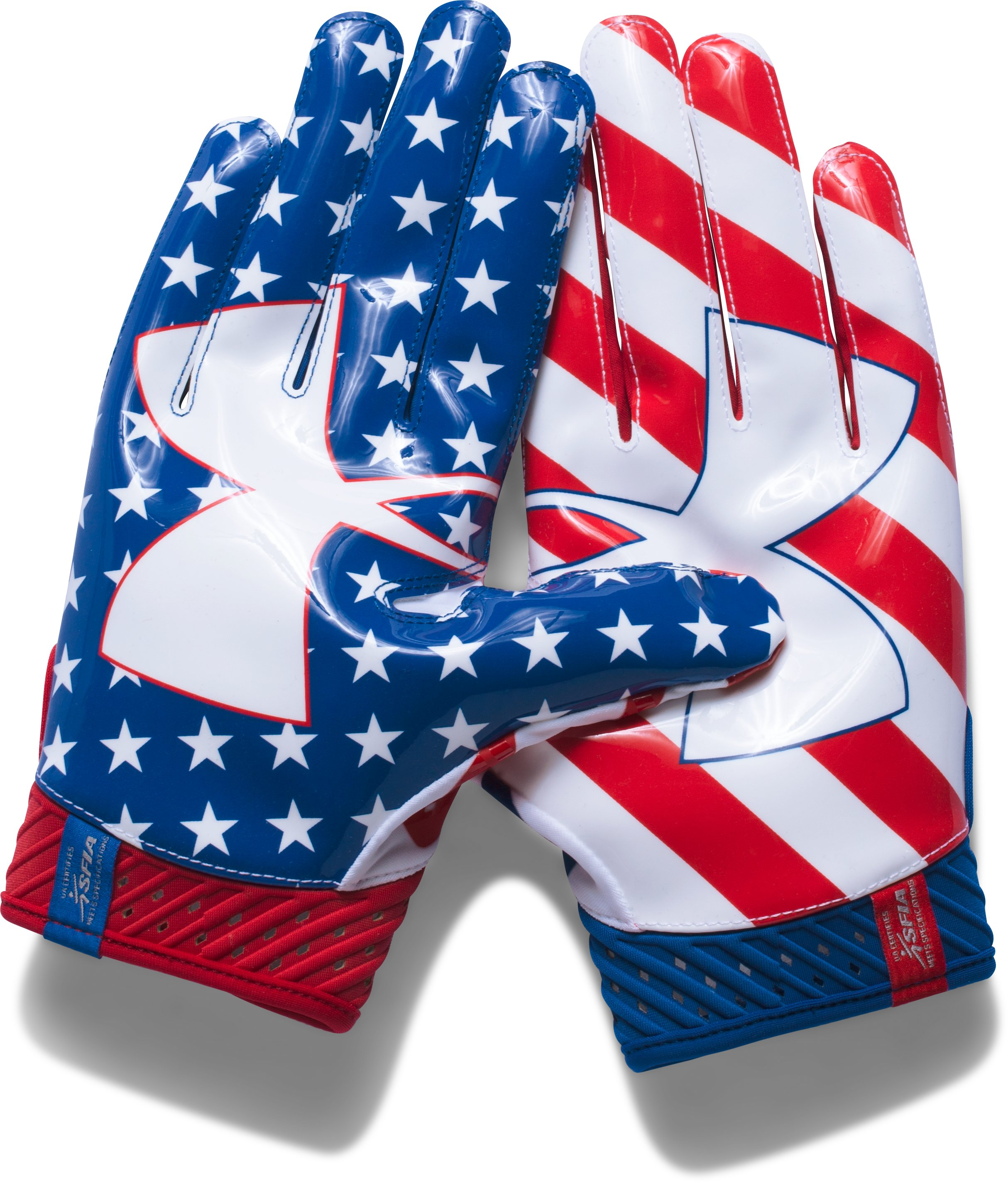 Men's UA Spotlight — Limited Edition Football Gloves, Red
