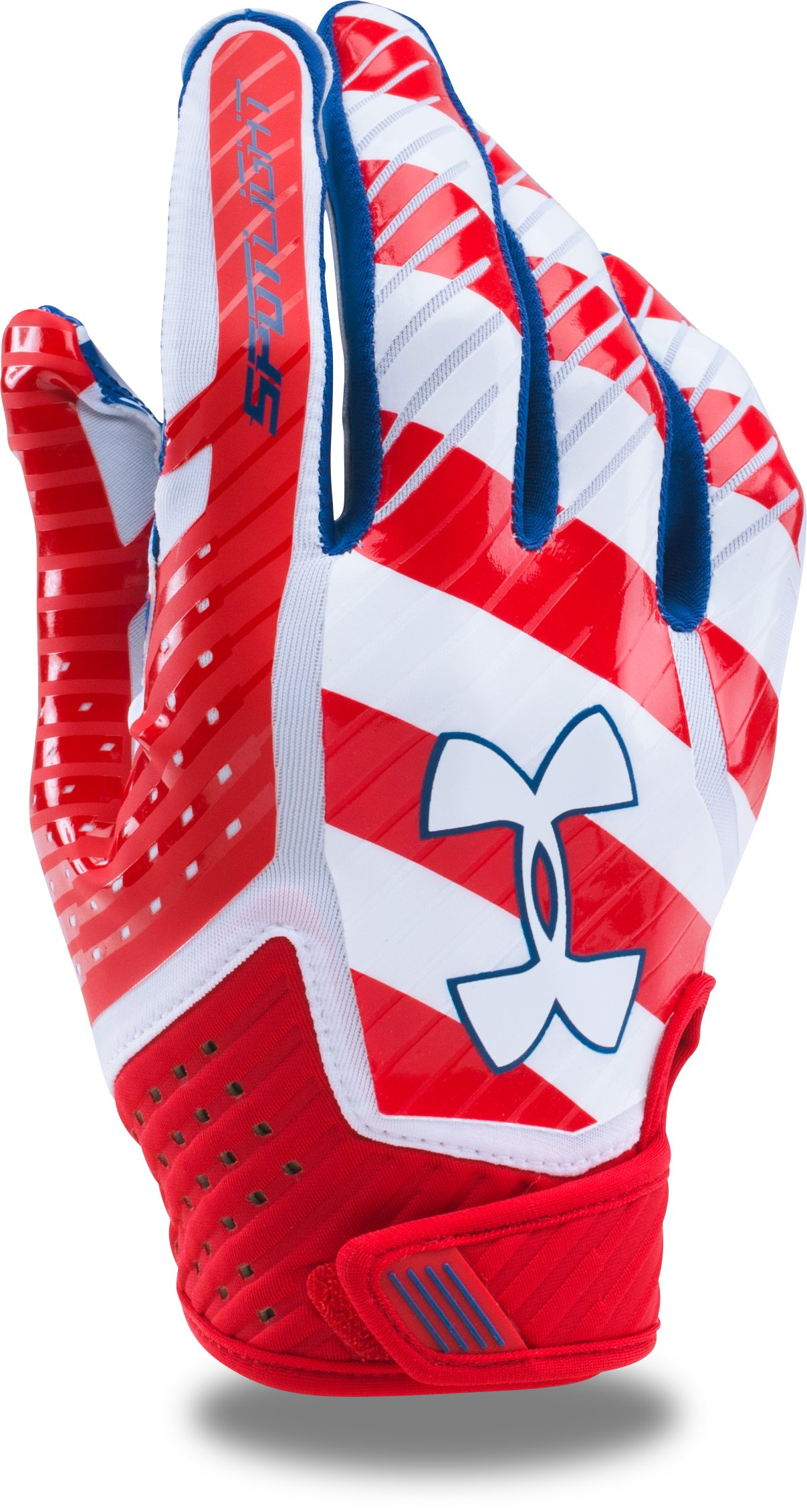 Men's UA Spotlight — Limited Edition Football Gloves, Red, undefined