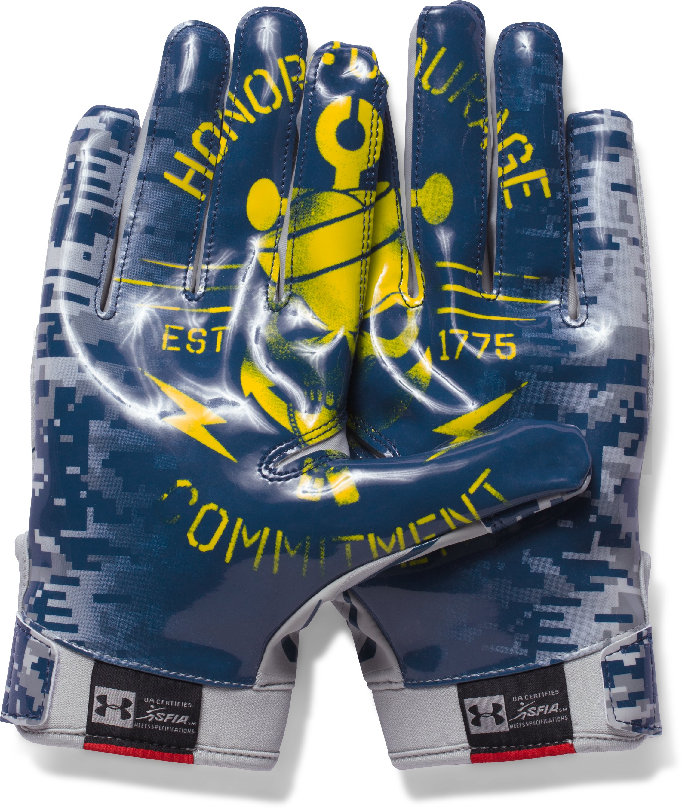 Men's UA F5 — Limited Edition Football Gloves, Aluminum
