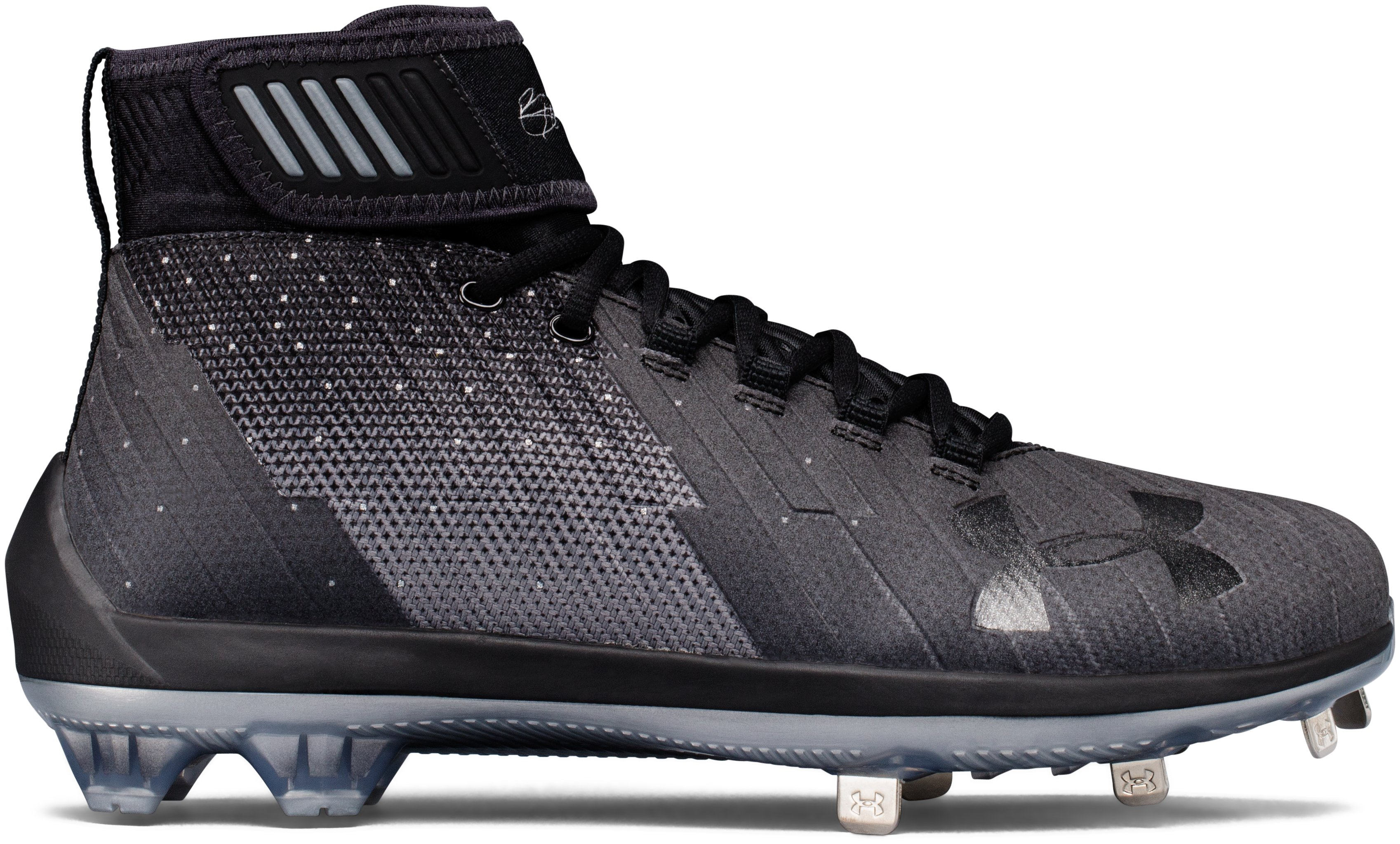 Men's UA Harper 2 Mid ST Baseball Cleats, Black