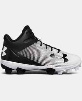 Boys' UA Leadoff Mid RM Jr. Baseball Cleats  3  Colors $37.99