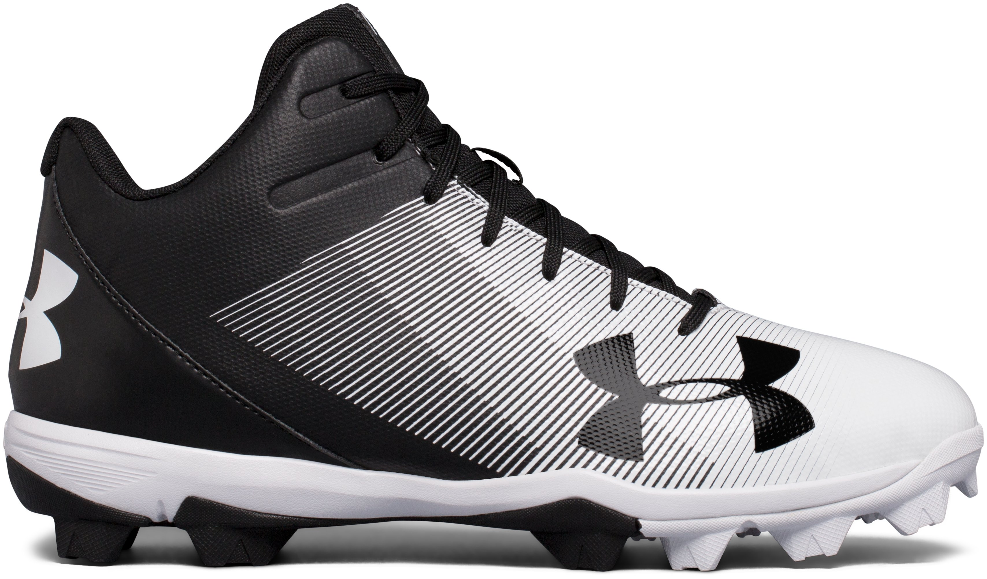 Men's UA Leadoff Mid RM Baseball Cleats, Black