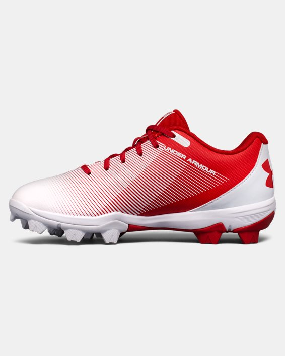 Boys' UA Leadoff Low RM Jr. Baseball Cleats, Red, pdpMainDesktop image number 1