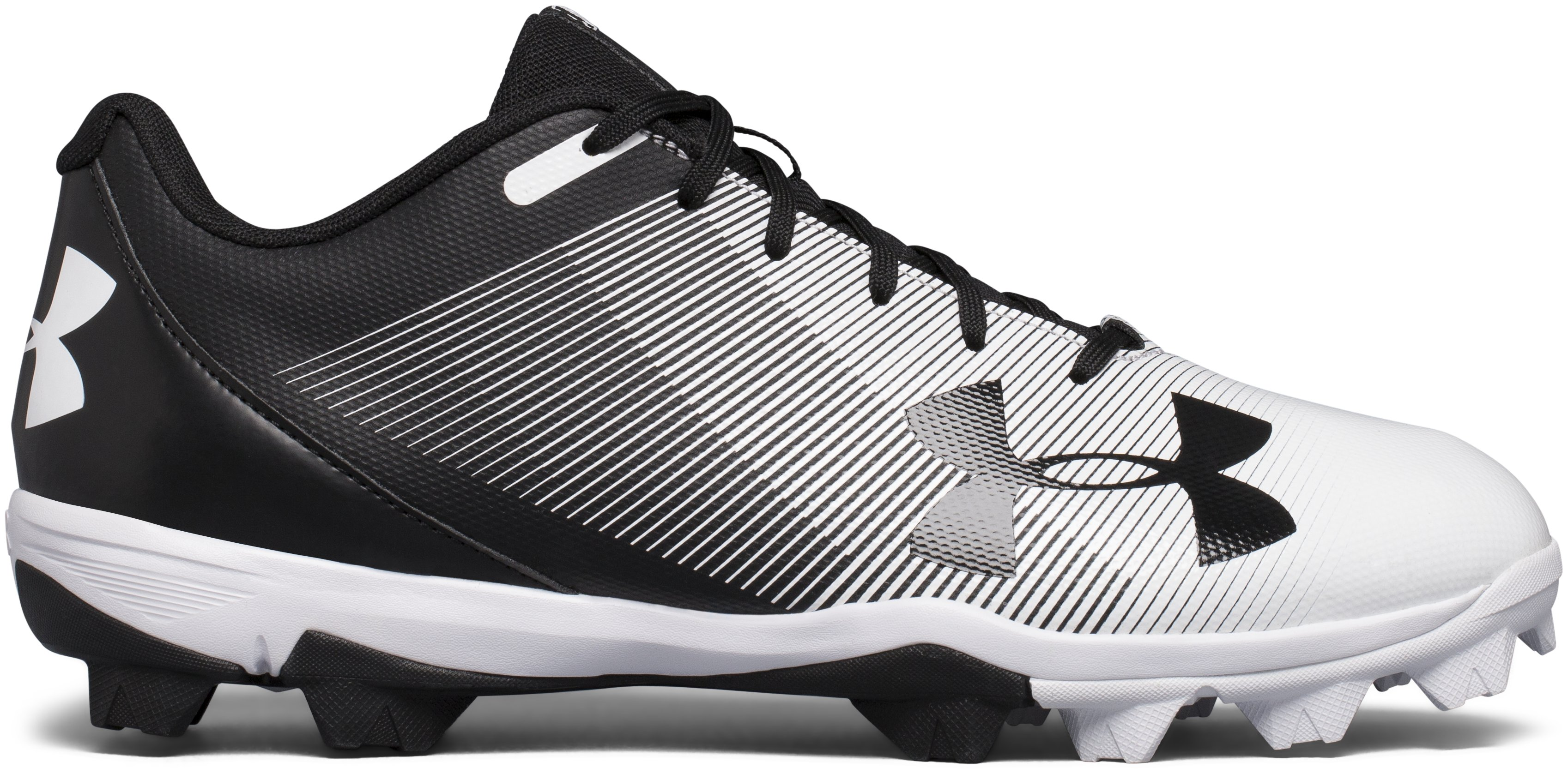 Men's UA Leadoff Low RM Baseball Cleats, Black ,