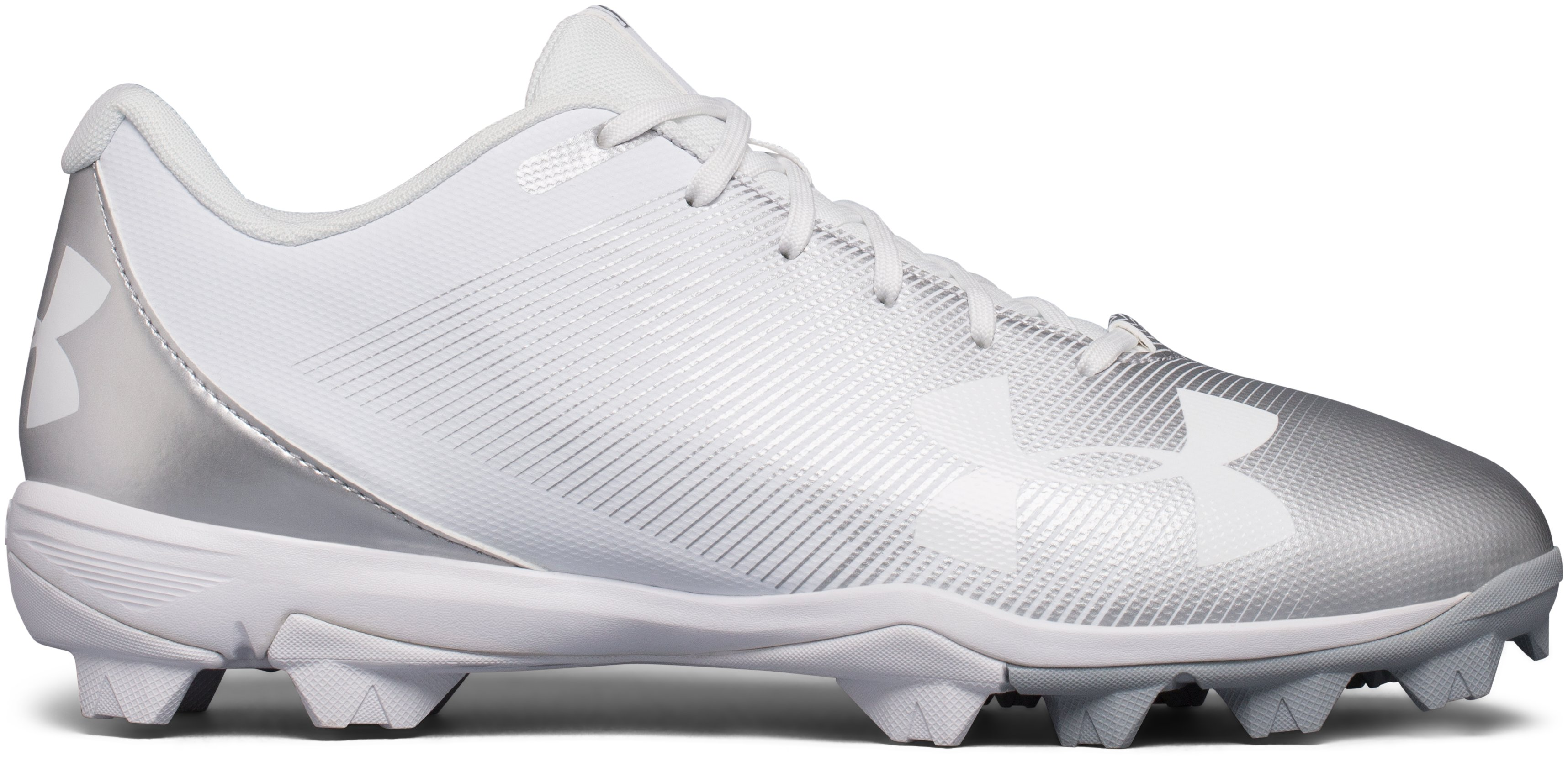 Men's UA Leadoff Low RM Baseball Cleats, White, undefined