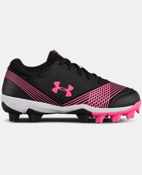 New Arrival Girls' UA Glyde Jr. Rubber Molded Softball Cleats  2 Colors $32.99