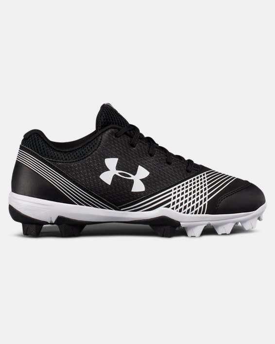 Women's UA Glyde Rubber Molded Softball Cleats, Black, pdpMainDesktop image number 0
