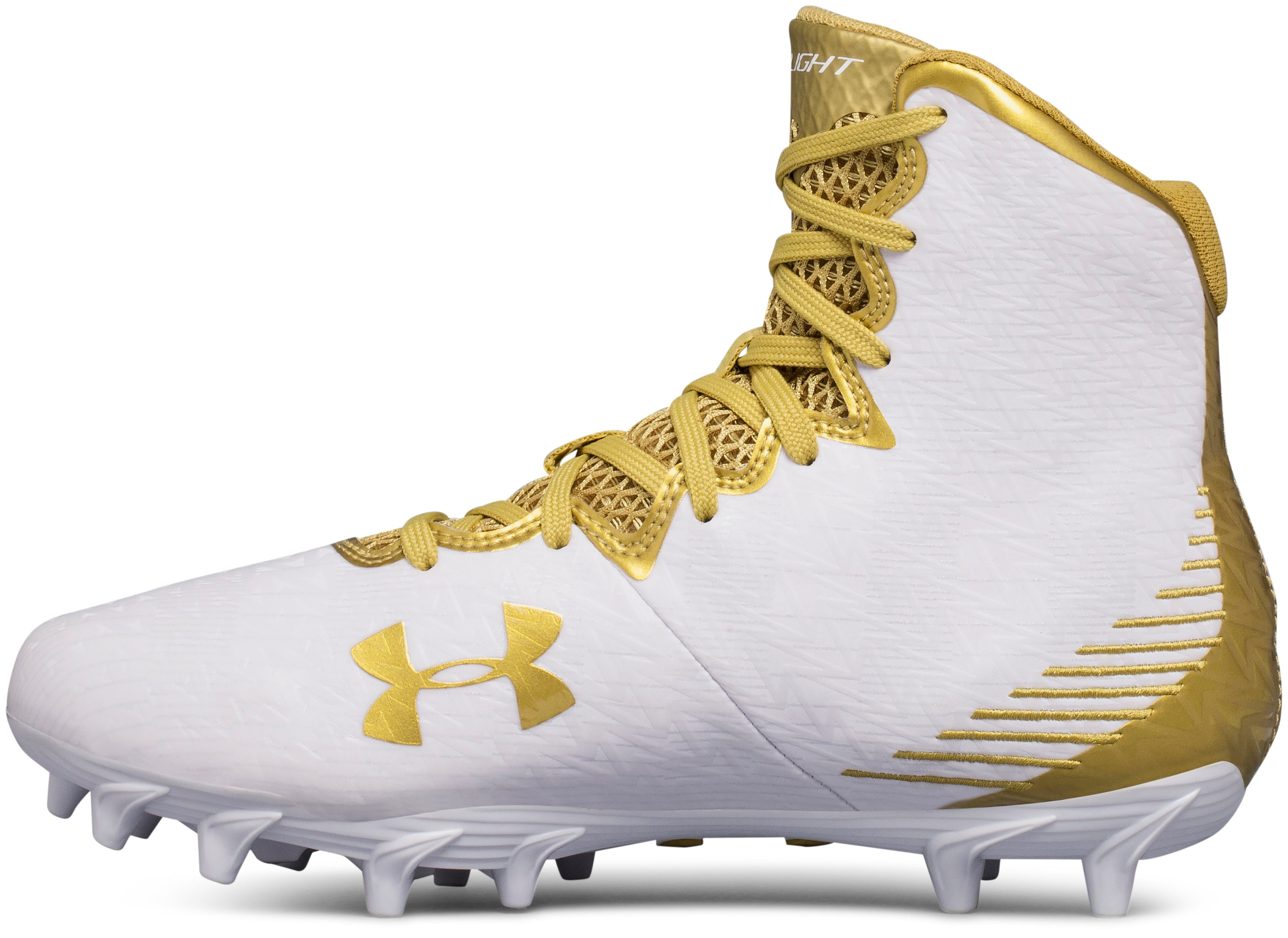 Women's UA Highlight Molded Lacrosse Cleats, White,