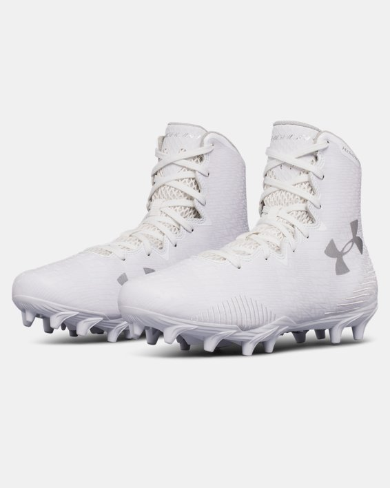 Women's UA Highlight Molded Lacrosse Cleats, White, pdpMainDesktop image number 4
