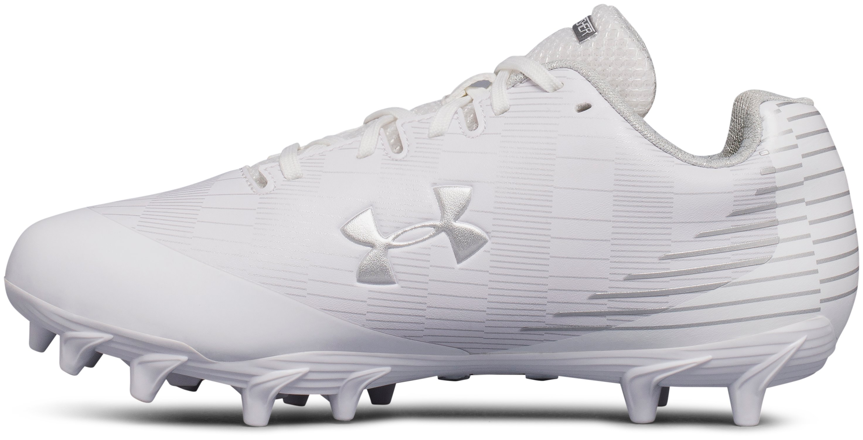Women's UA Finisher Molded Lacrosse Cleats, White,