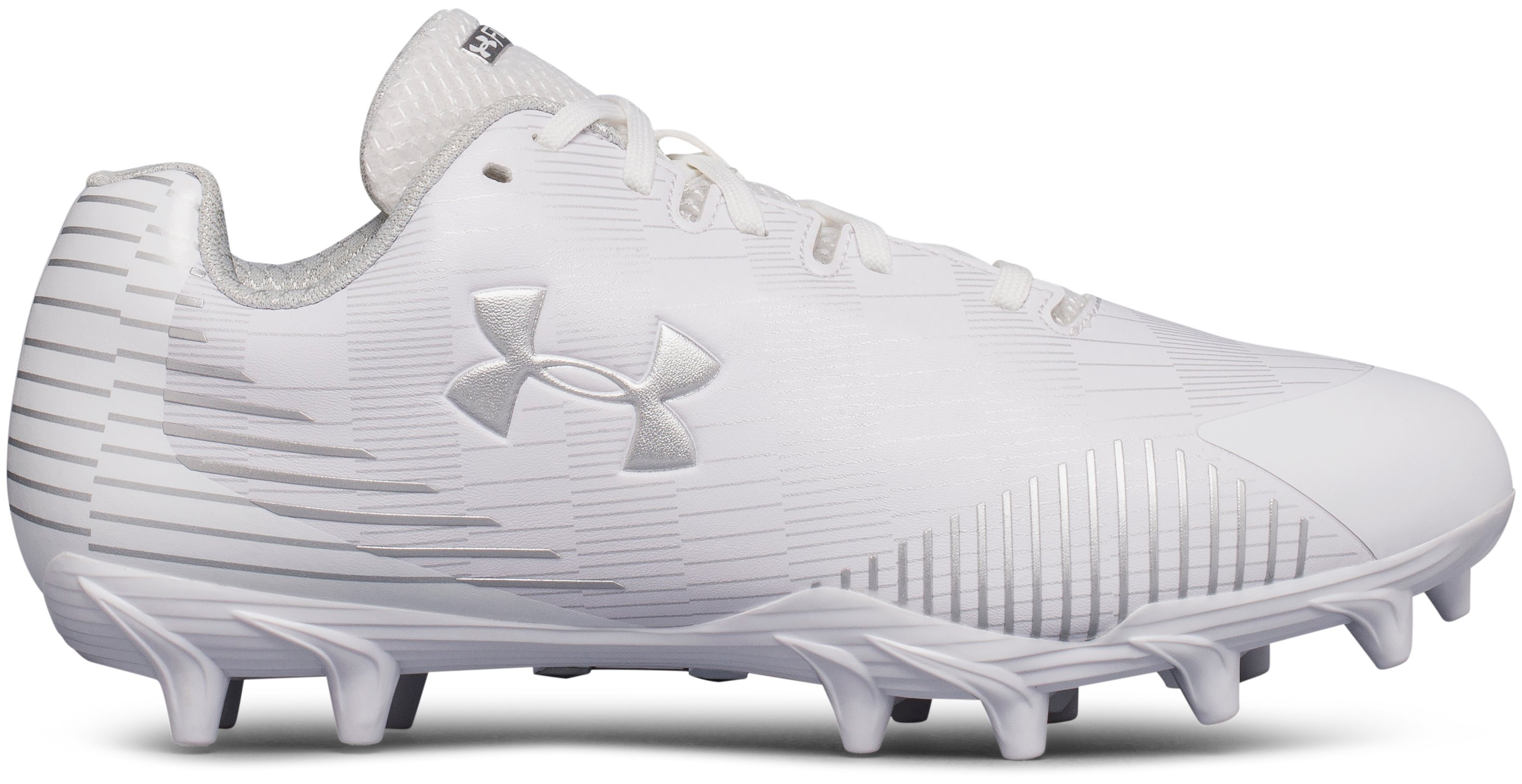 Women's UA Finisher Molded Lacrosse Cleats, White