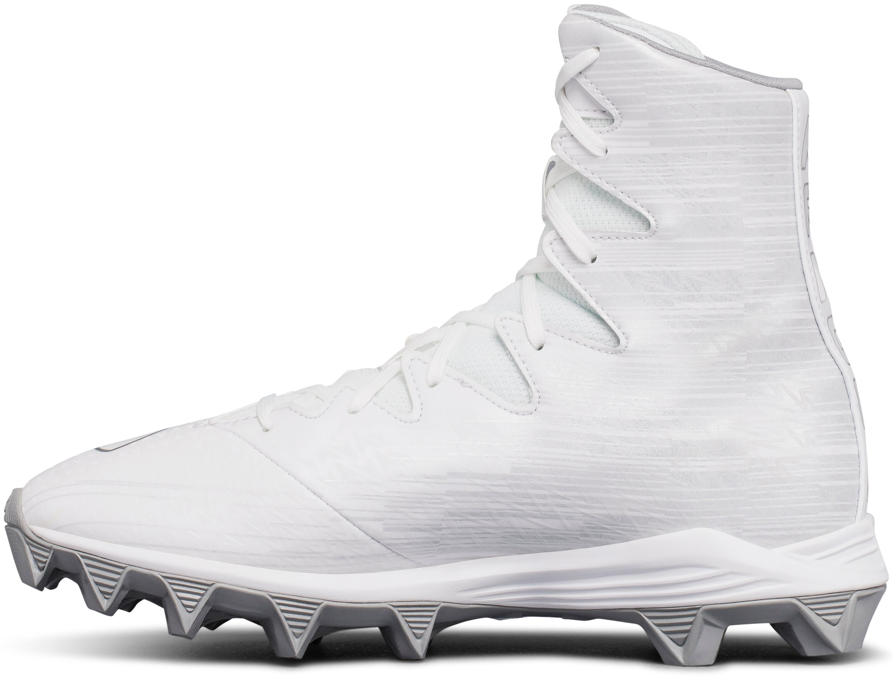 Boys' UA Highlight Jr. RM Lacrosse Cleats, White,