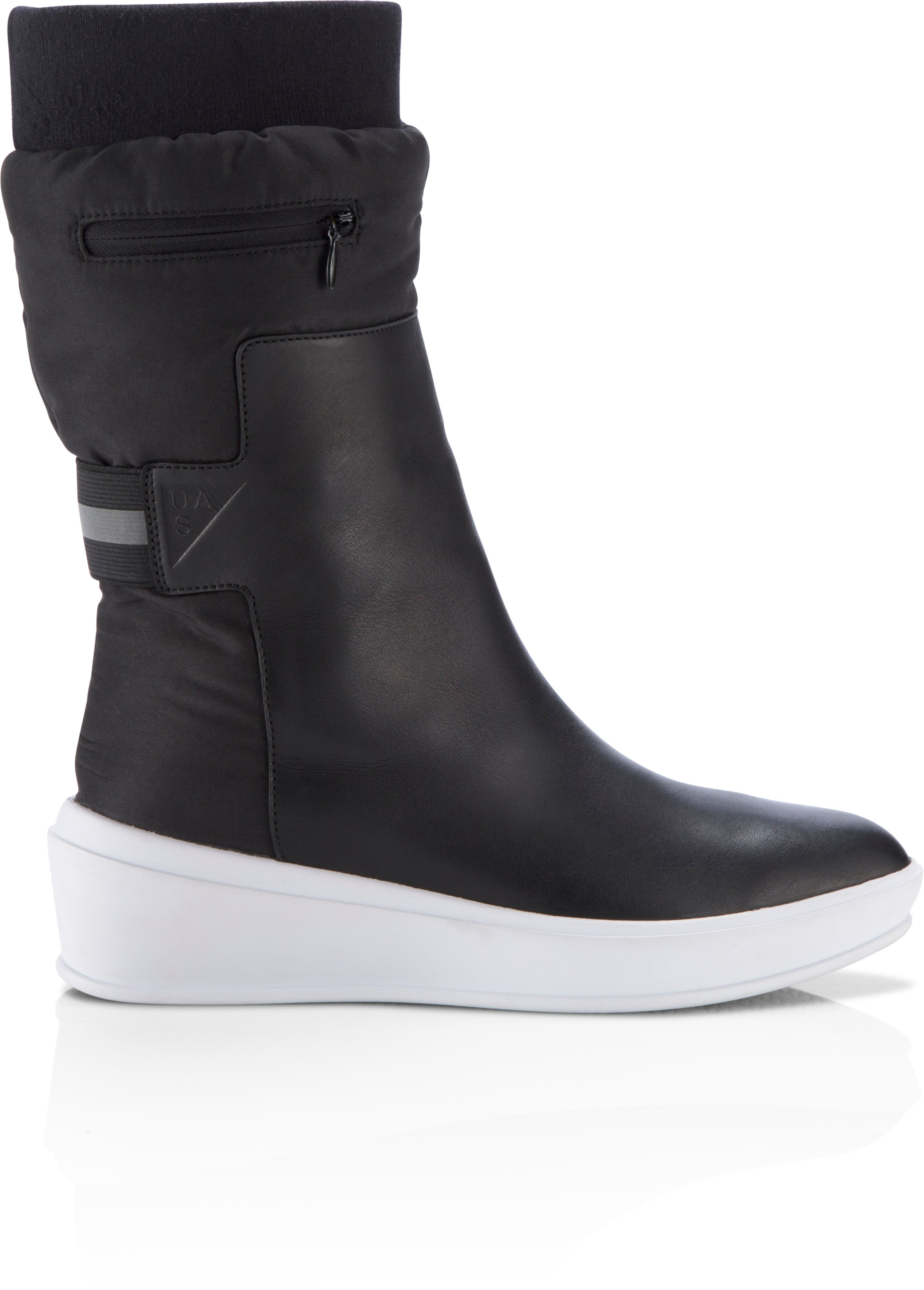 Women's UAS Elevated Wedge Boots, Black , undefined